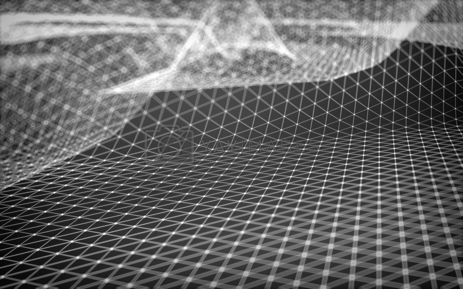 Royalty free image of Abstract polygonal space low poly  by teerawit