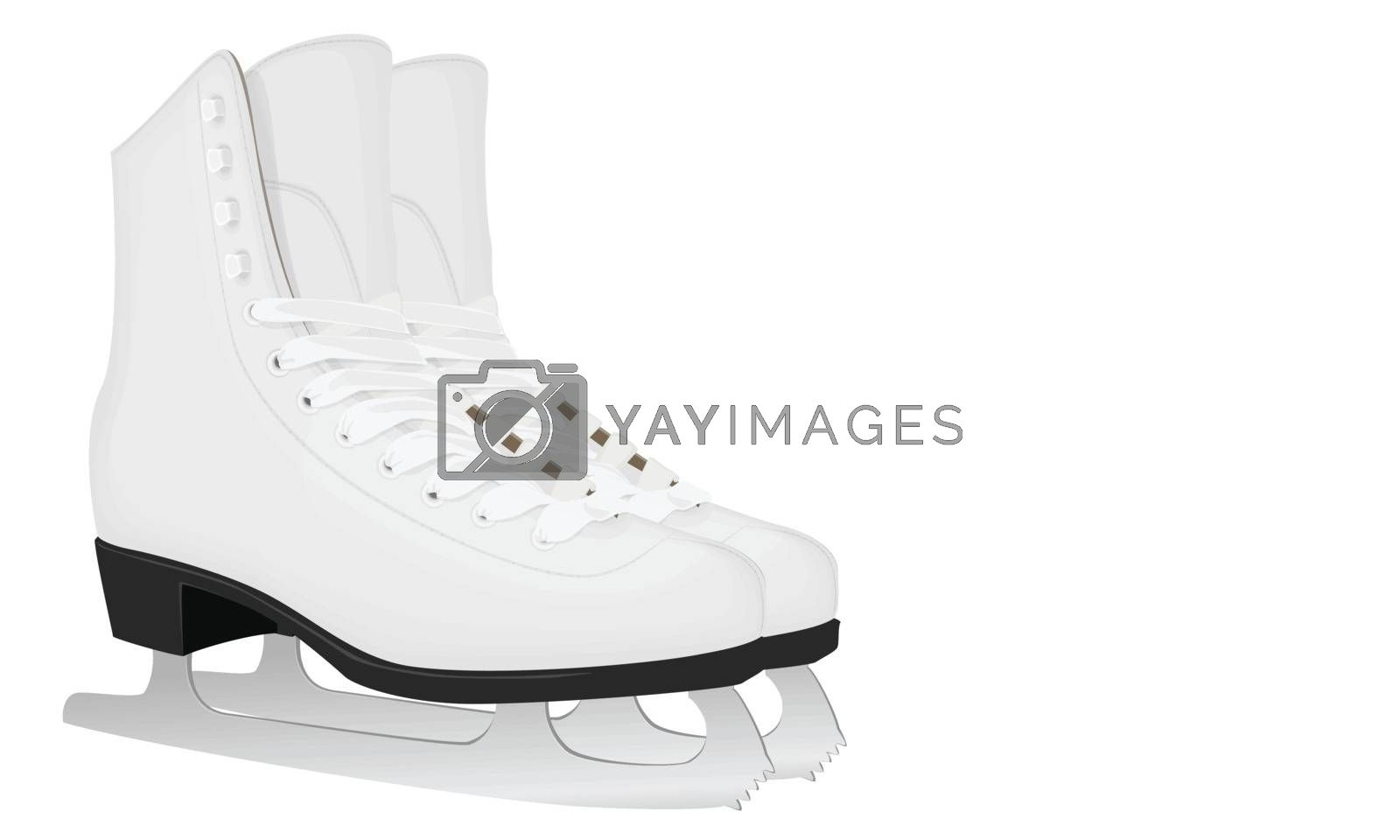 Royalty free image of White skates for figure skating by sergeevana