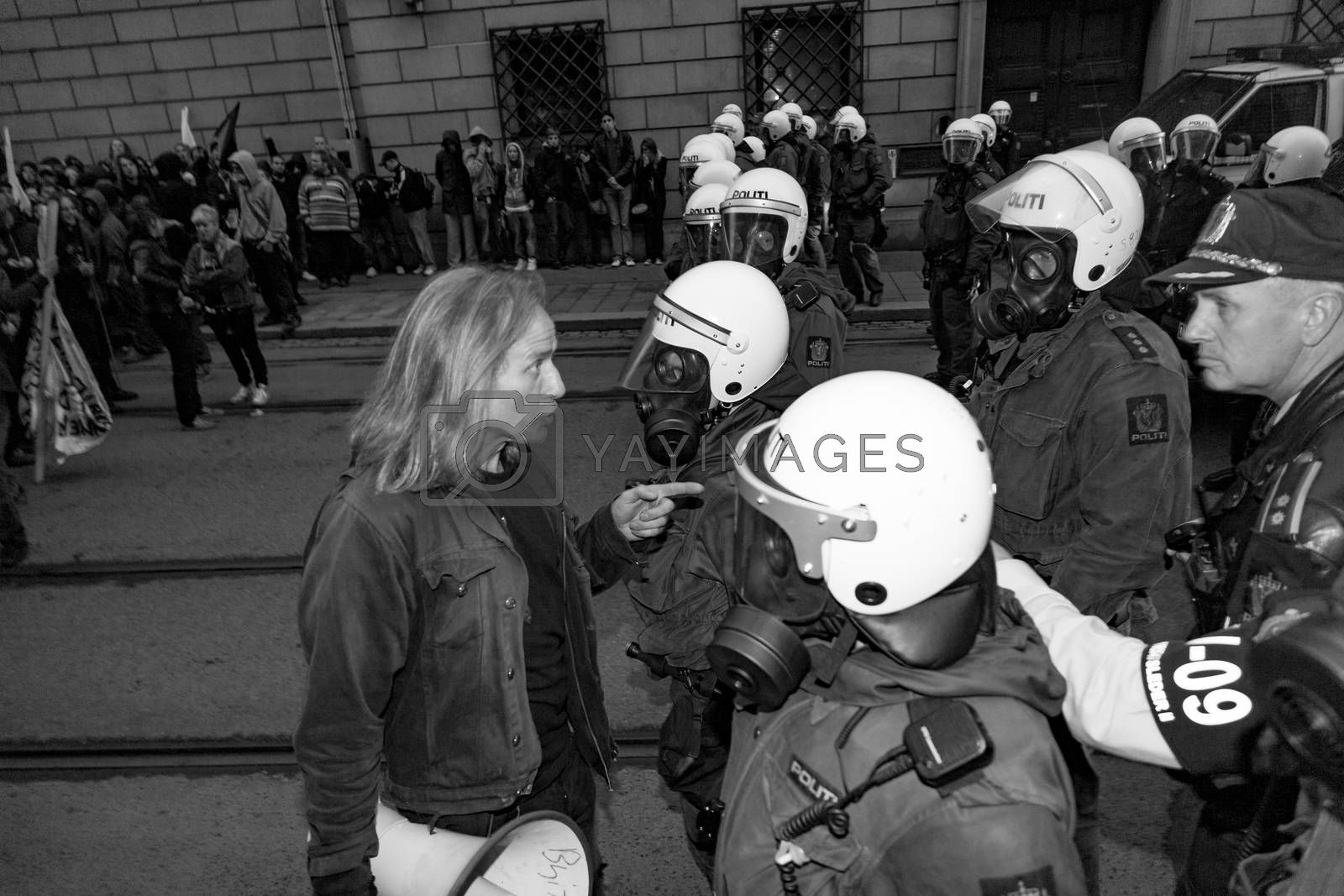 Royalty free image of Protest mot NATO by paulw