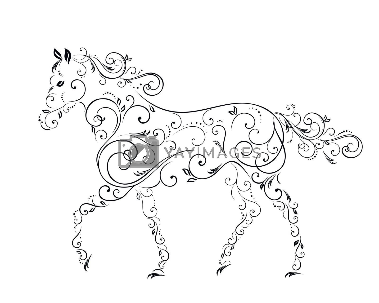 Royalty free image of Horses from curls  by sergeevana