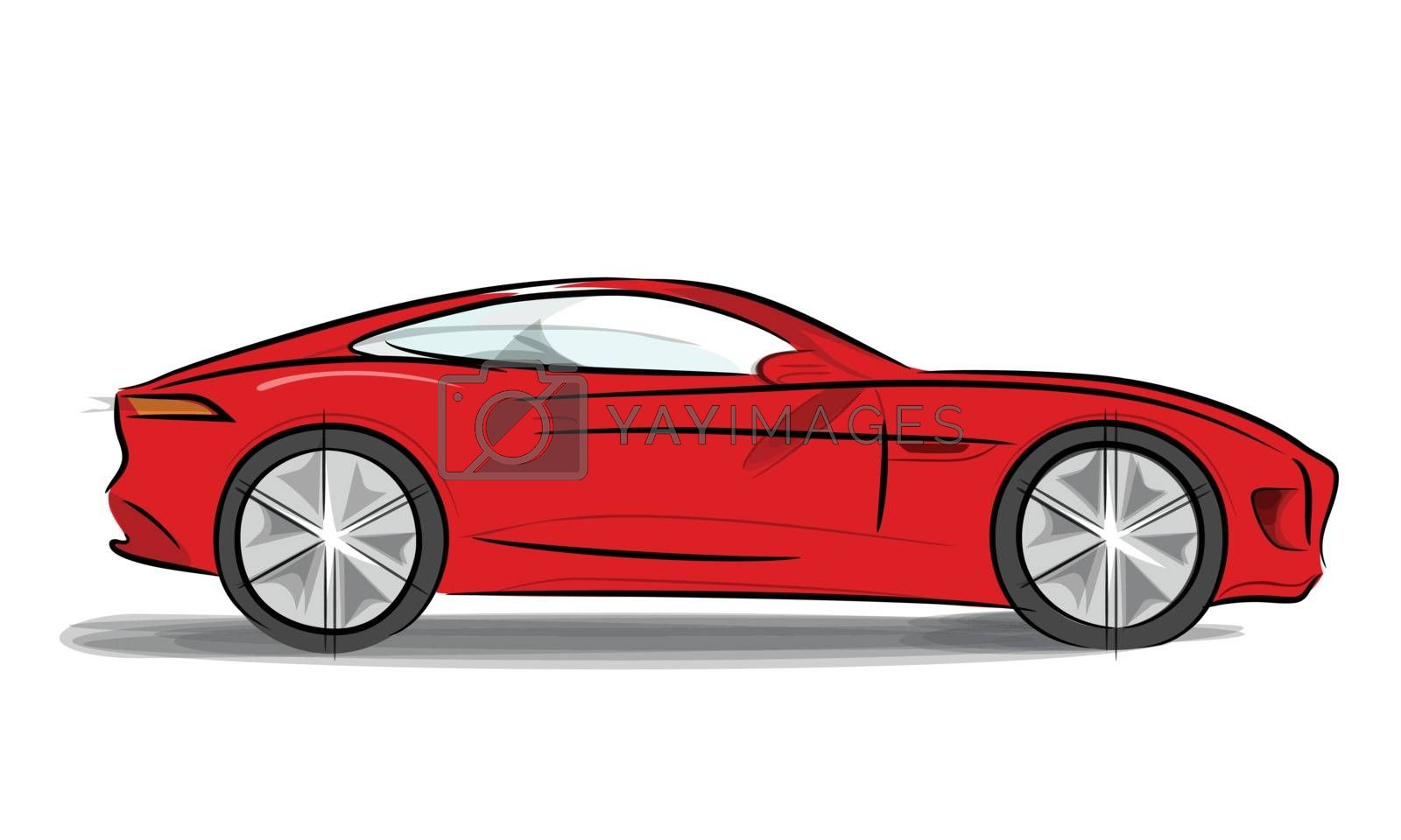 Royalty free image of Sports car with a sleek by sergeevana