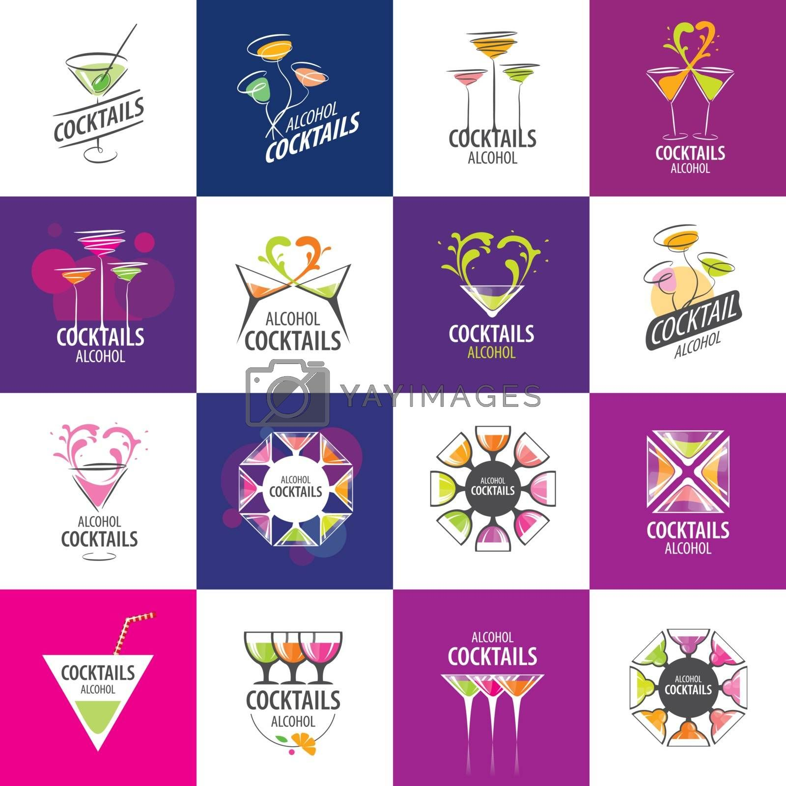 alcoholic cocktails logo by butenkow