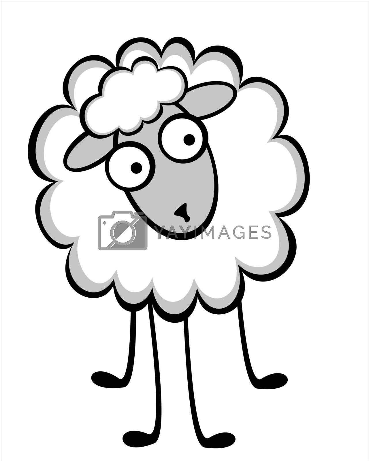 Royalty free image of Funny young sheep by sergeevana