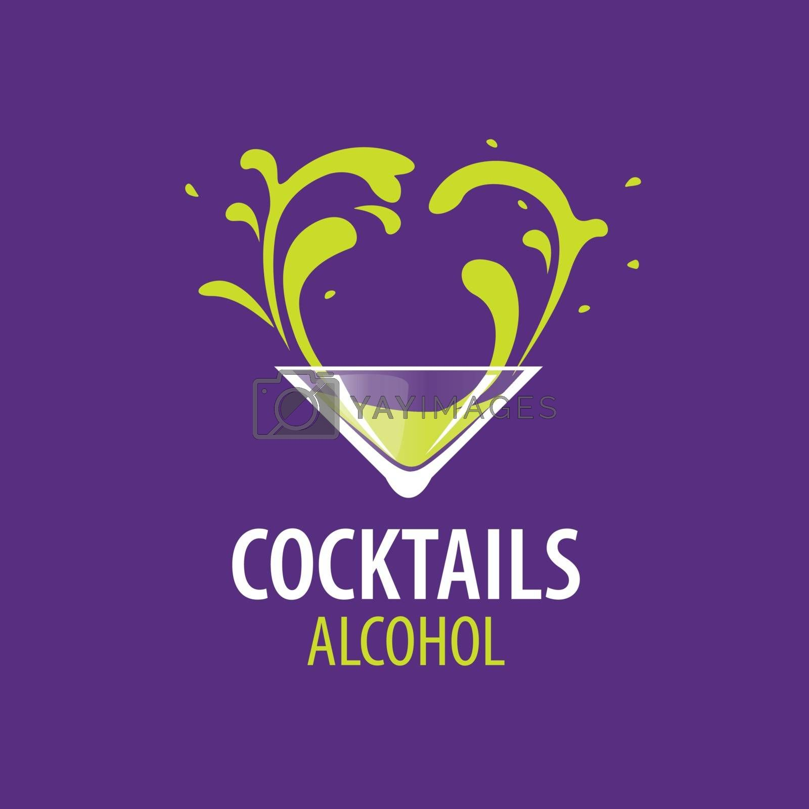 Royalty free image of alcoholic cocktails logo by butenkow