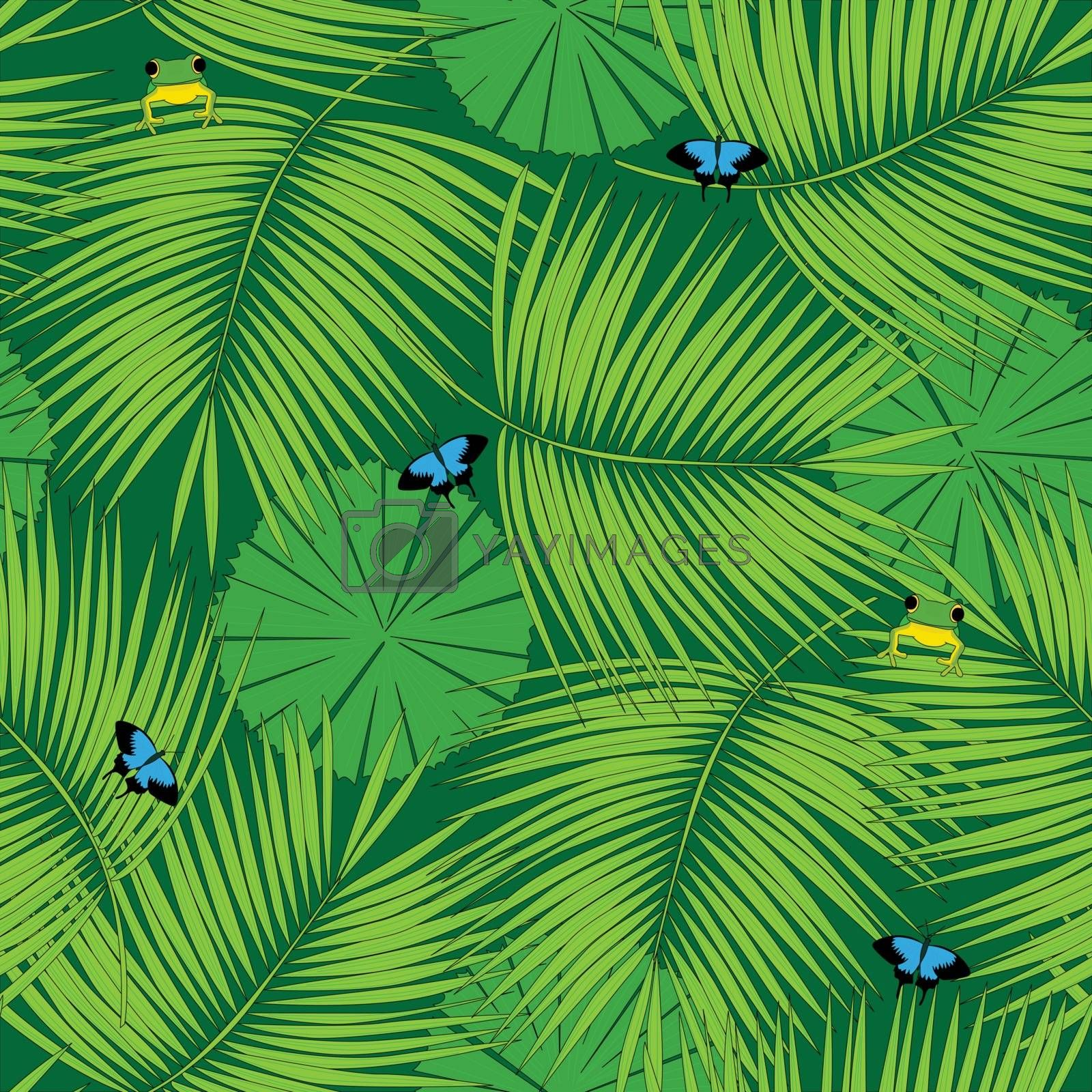 Royalty free image of Rain forest pattern by nahhan