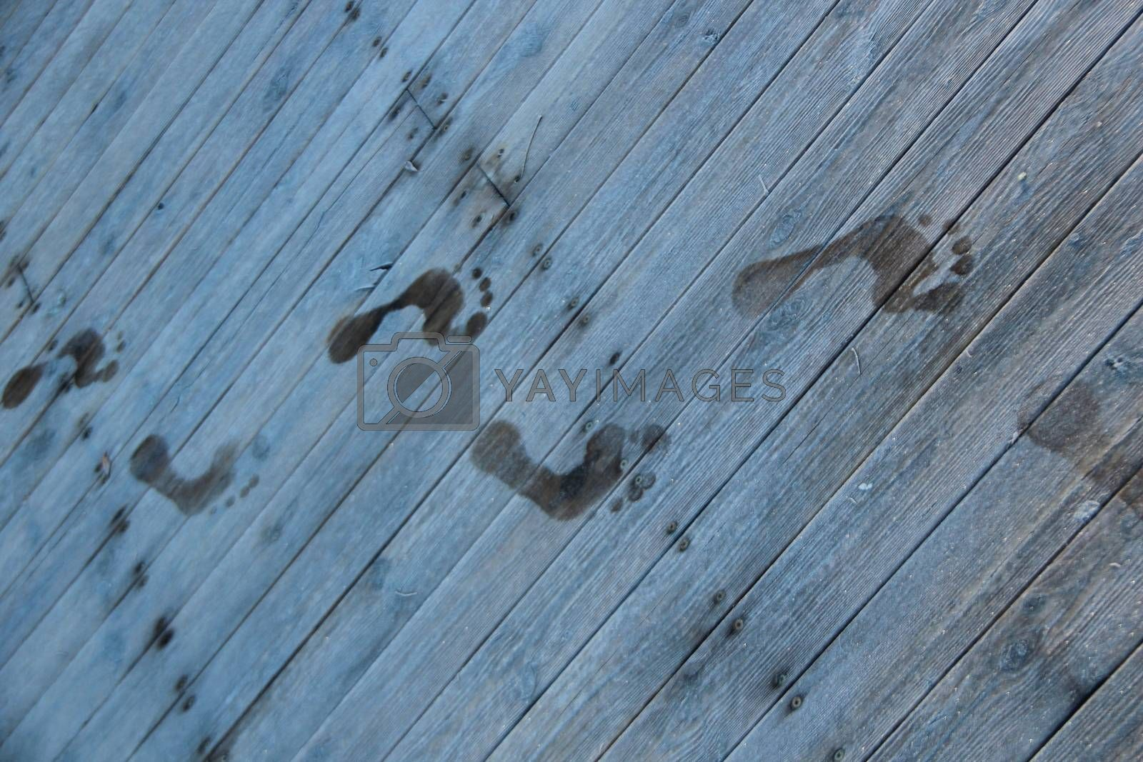 Royalty free image of Barefoot at wintertime by ehaugen