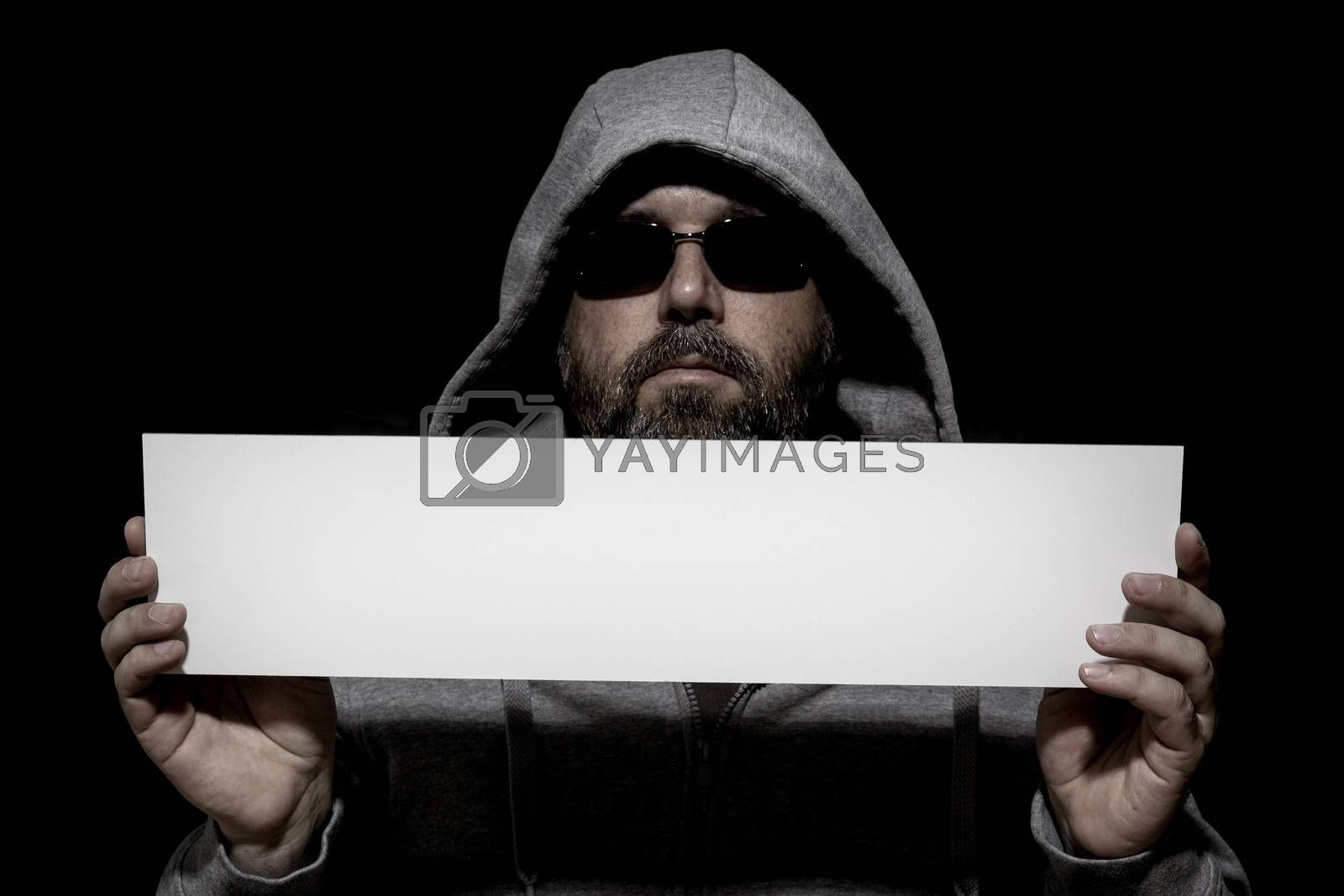 Royalty free image of unrecognizable man by magann