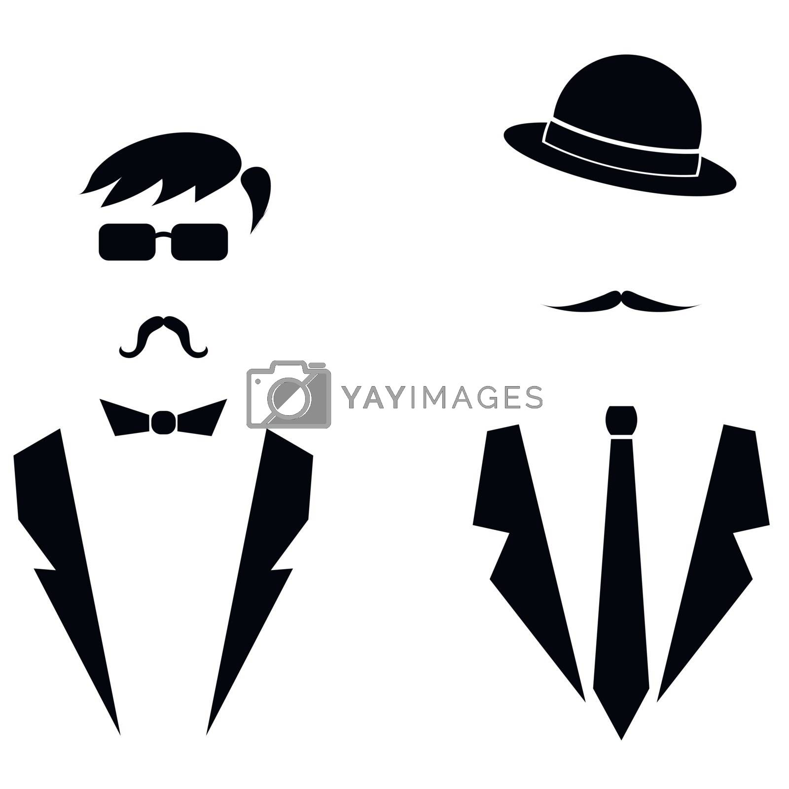 Men Icons Isolated by valeo5