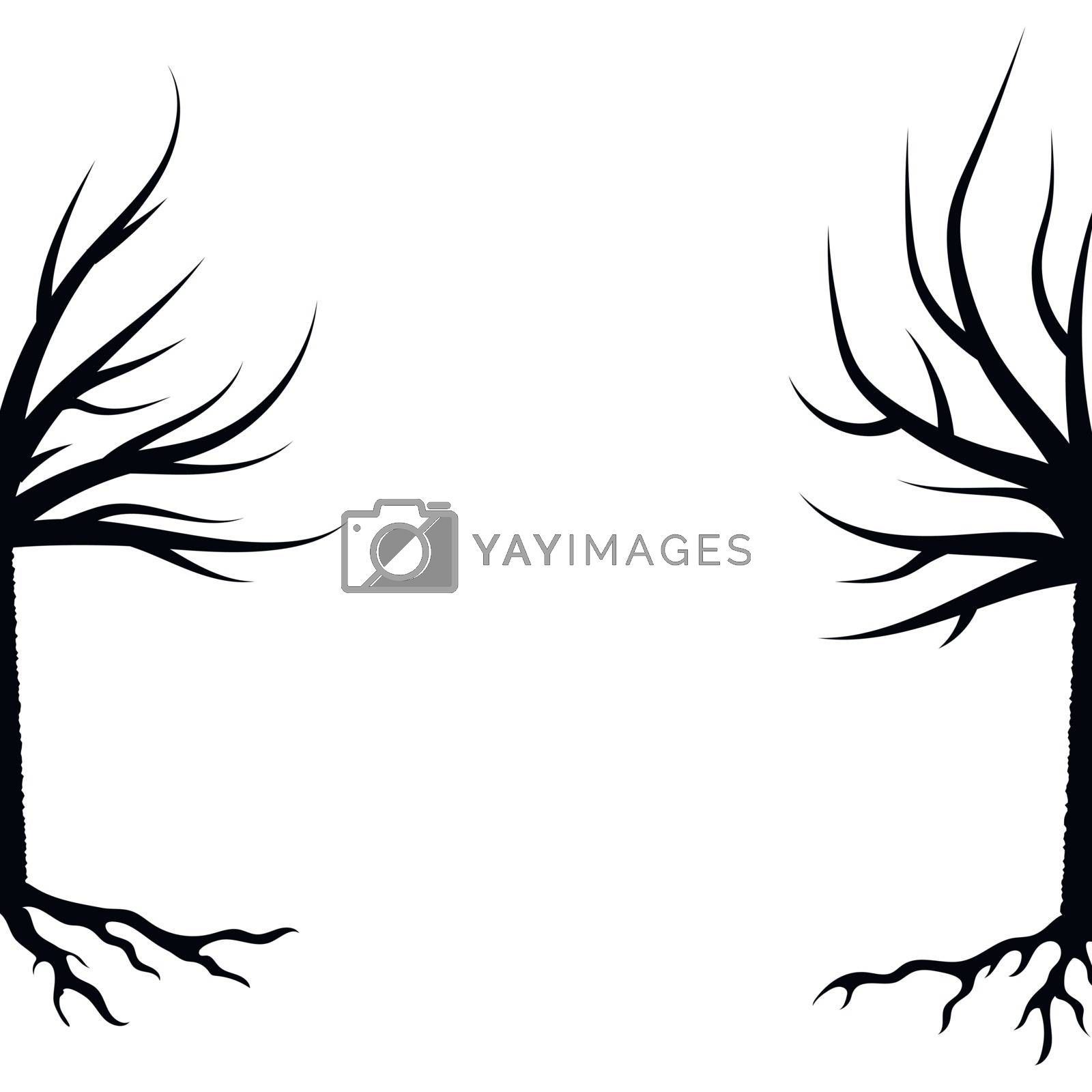 Royalty free image of Winter Trees Silhouettes by valeo5