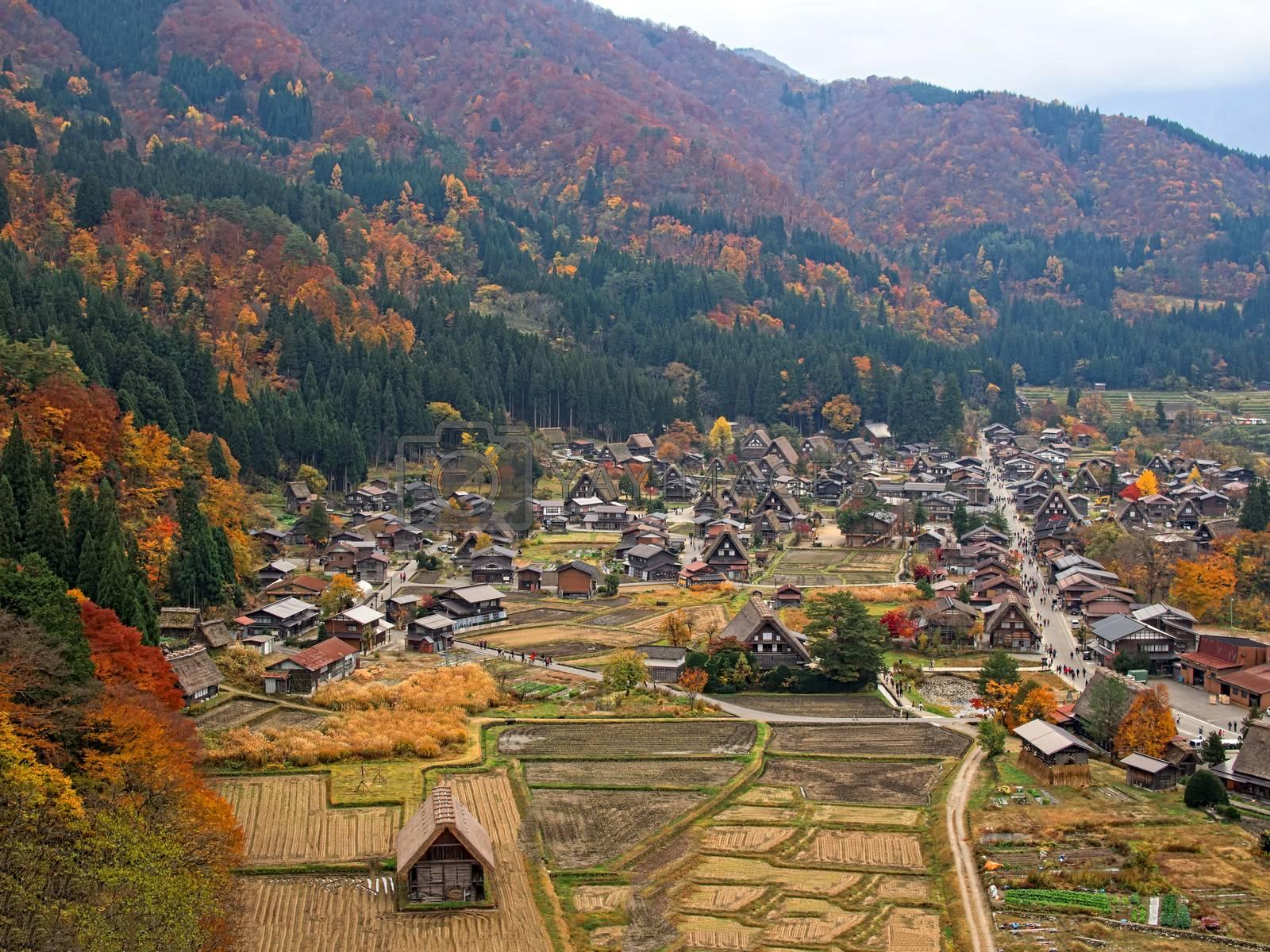Royalty free image of farmhouse at shirakawago by zkruger