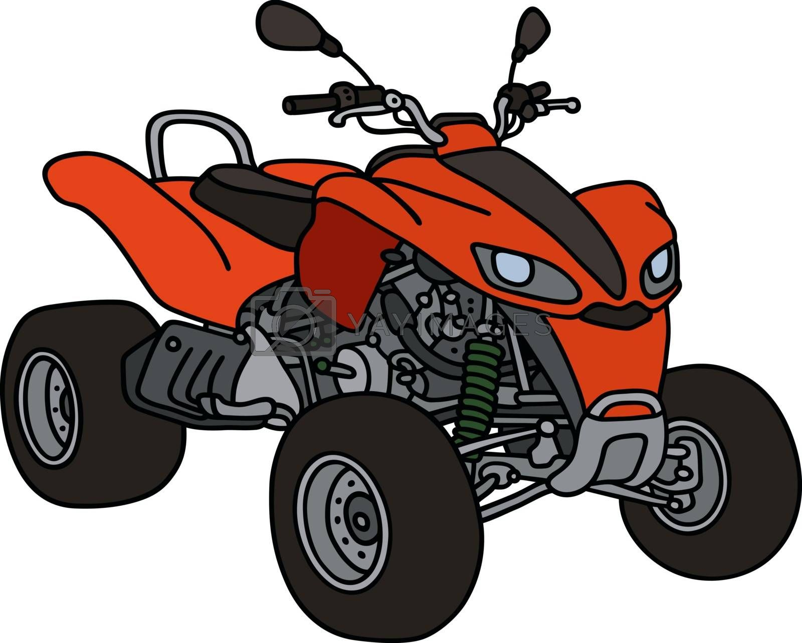 Royalty free image of Red all terrain vehicle by vostal