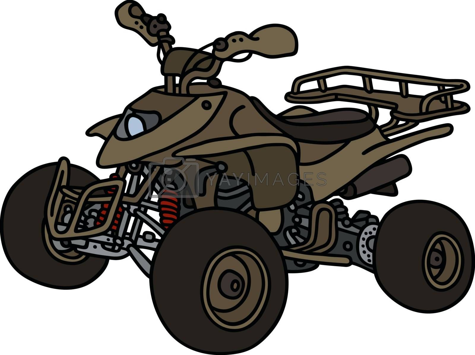Olive all terrain vehicle by vostal