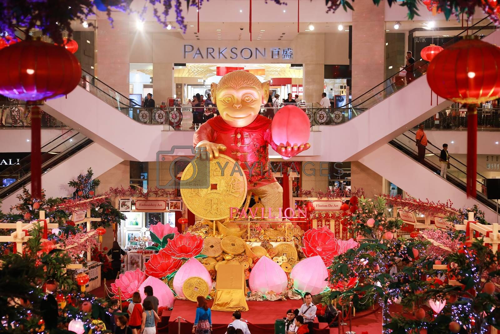 Royalty free image of MALAYSIA-KUALA LUMPUR-NEW YEAR-CHINESE-MONKEY by newzulu