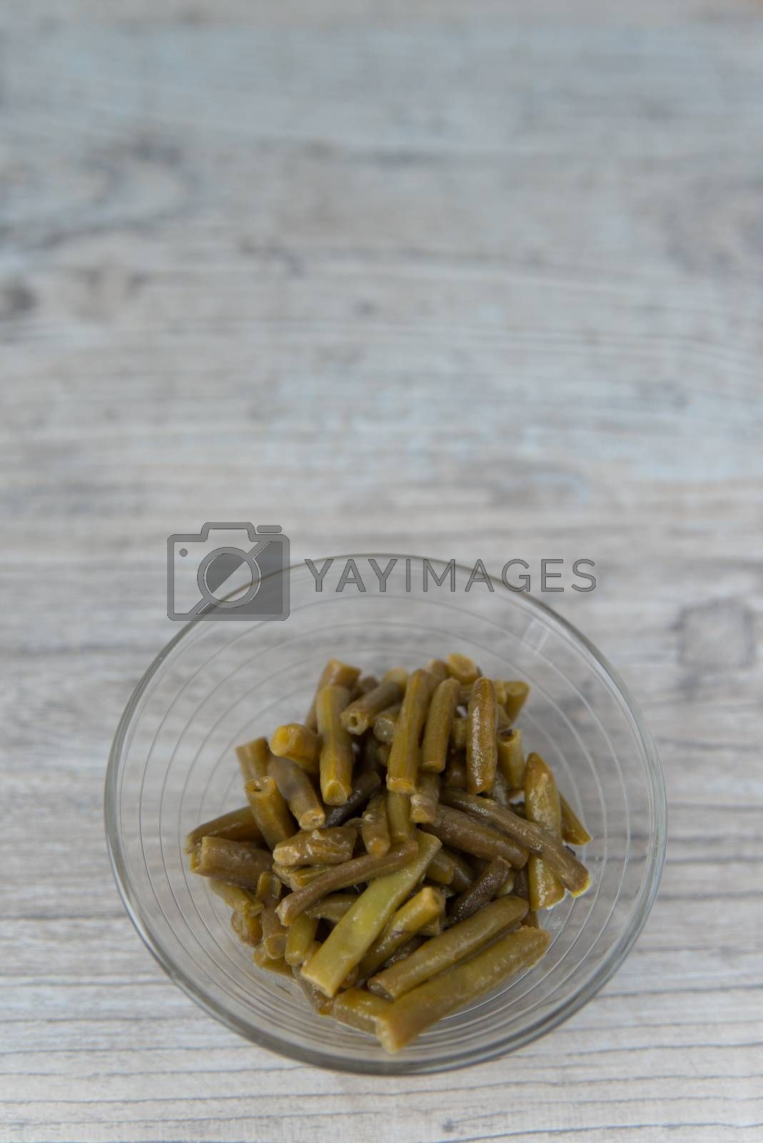 Royalty free image of Plate of the green beans by Linaga