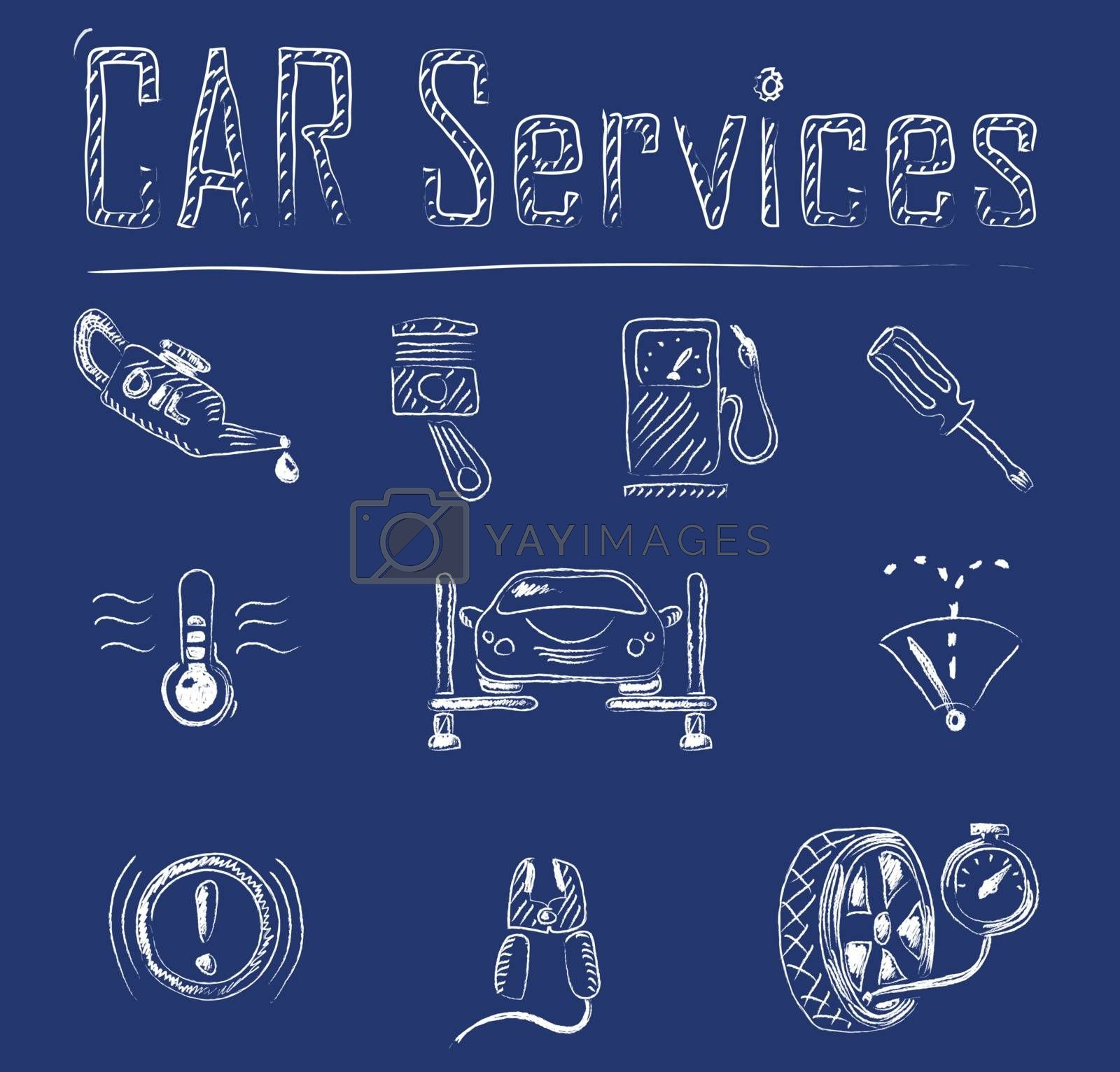 Royalty free image of Car service icons by ayax