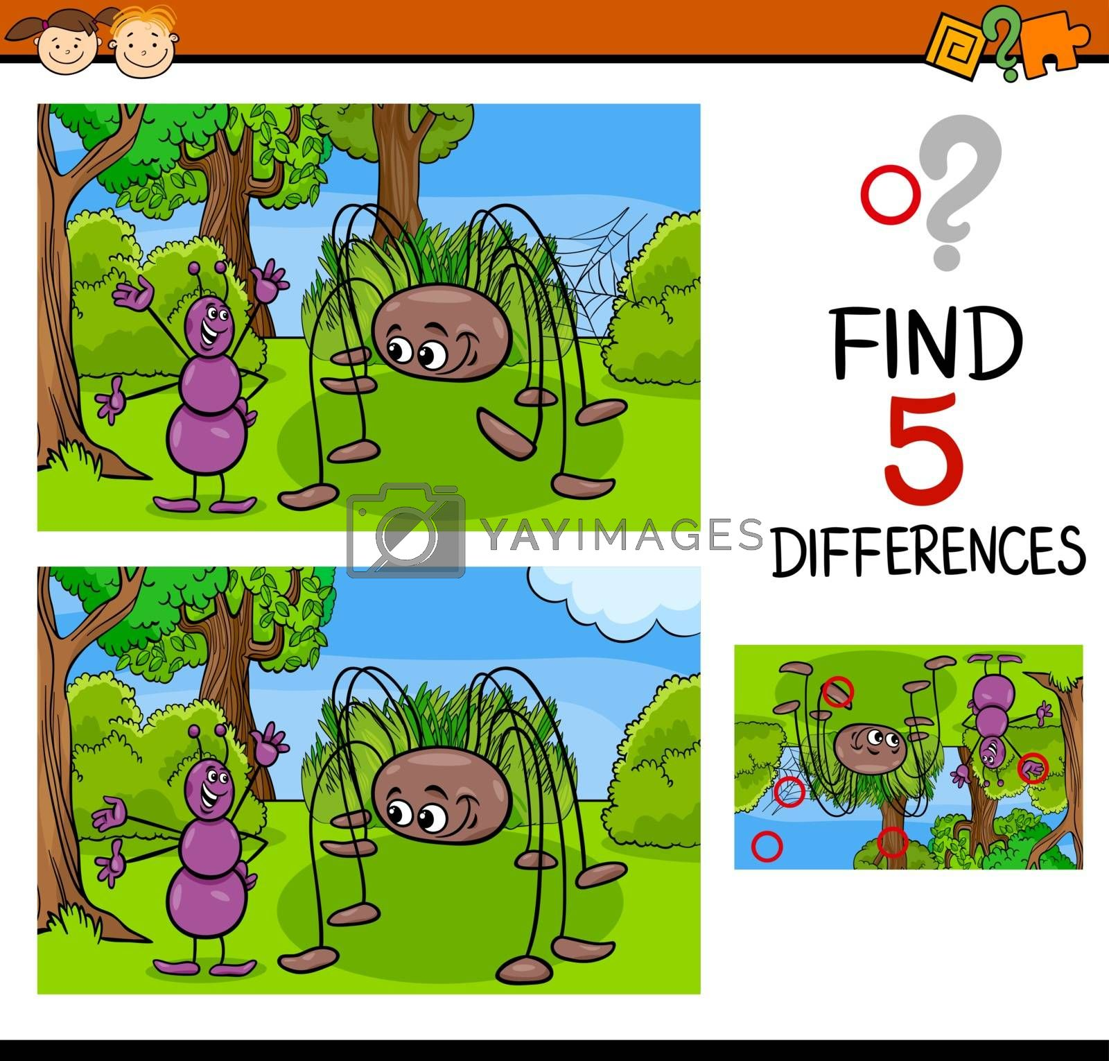 Royalty free image of kindergarten task of differences by izakowski