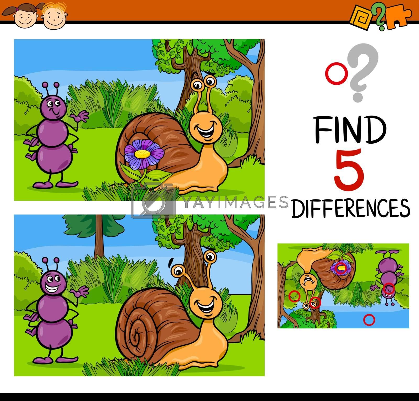 Royalty free image of educational differences task by izakowski