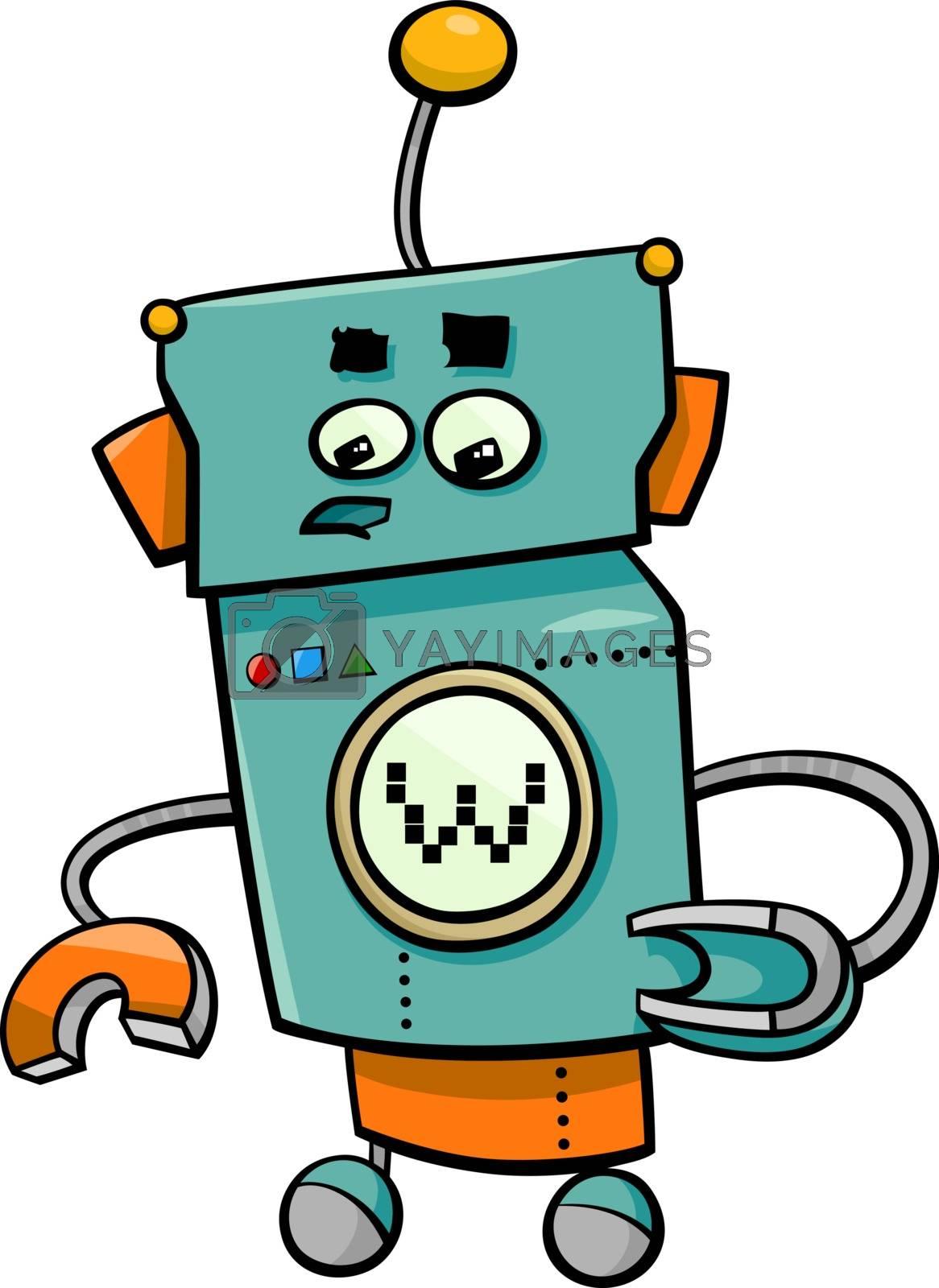Royalty free image of comic robot cartoon character by izakowski