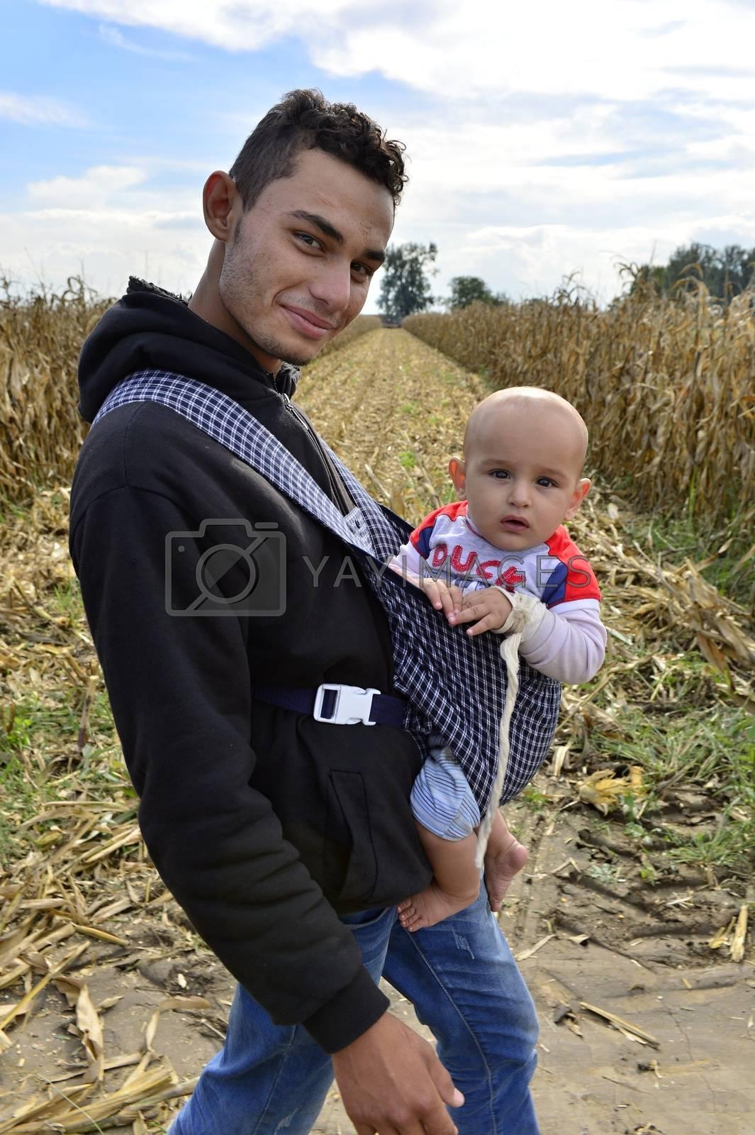 refugees in Sid (Serbian - Croatina border) by radekprocyk