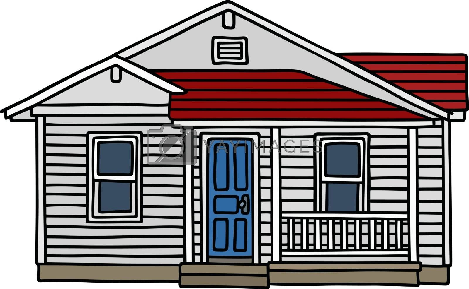 Royalty free image of White wooden house by vostal