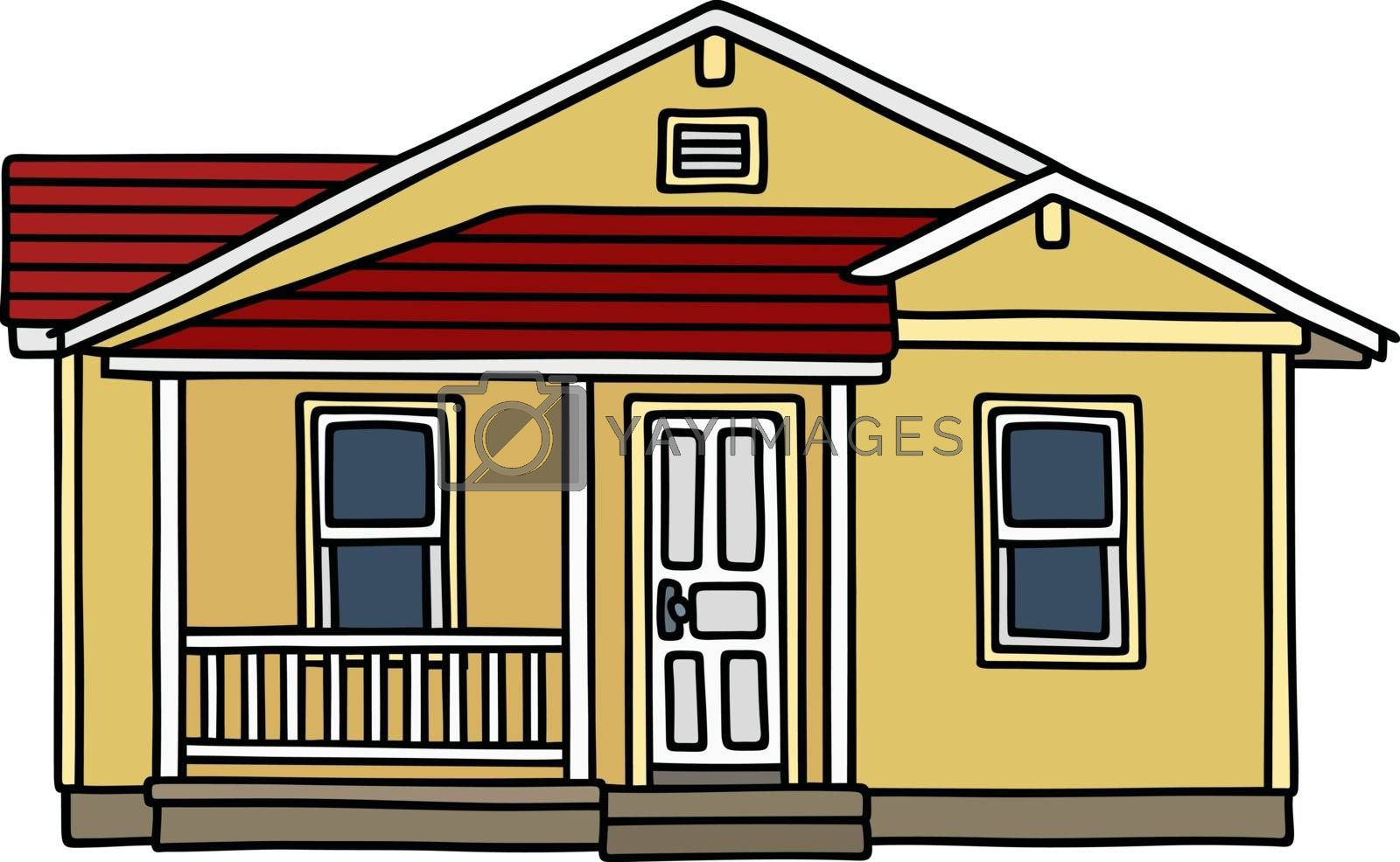 Royalty free image of Yellow small house by vostal