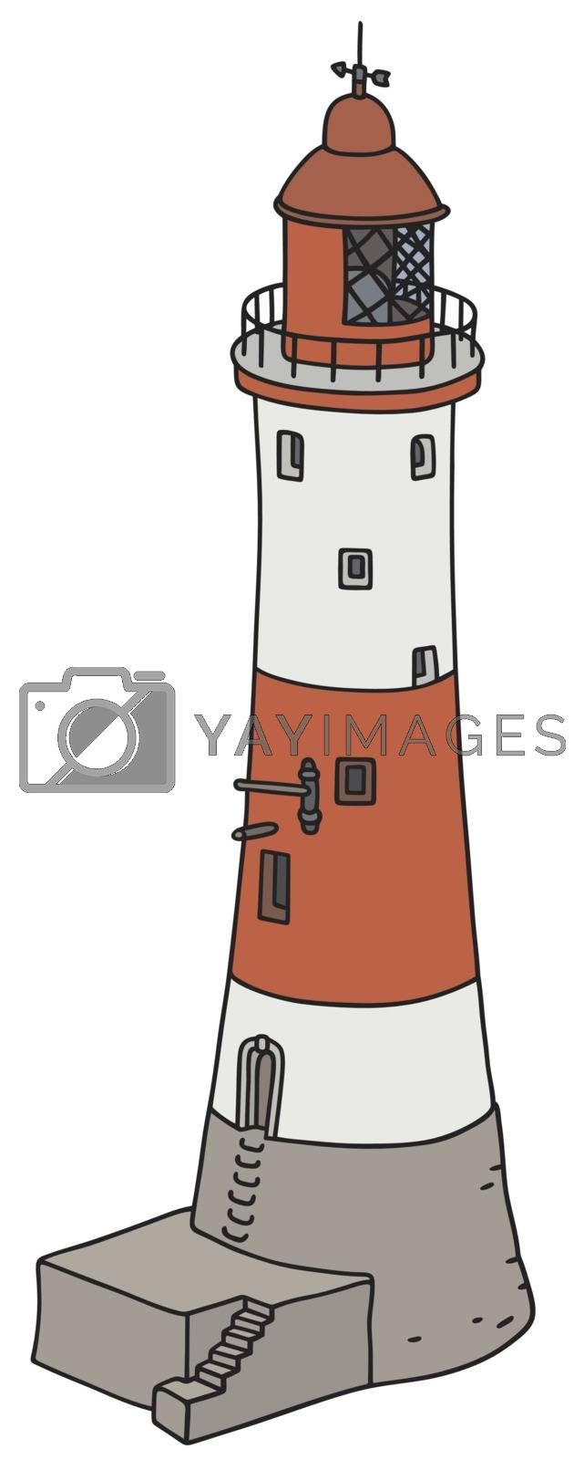 Royalty free image of Old red and white lighthouse by vostal