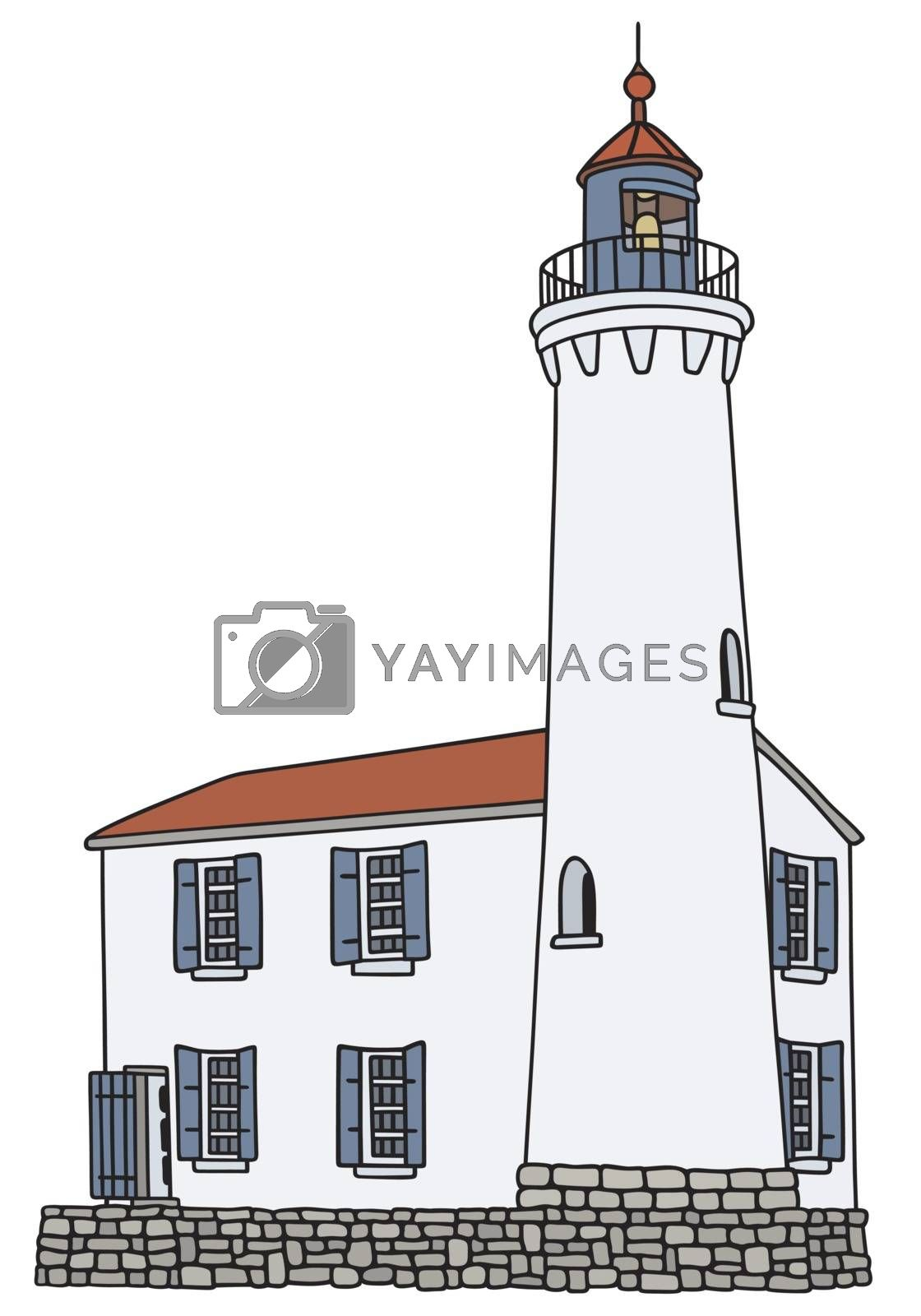 Royalty free image of Old stone lighthouse by vostal