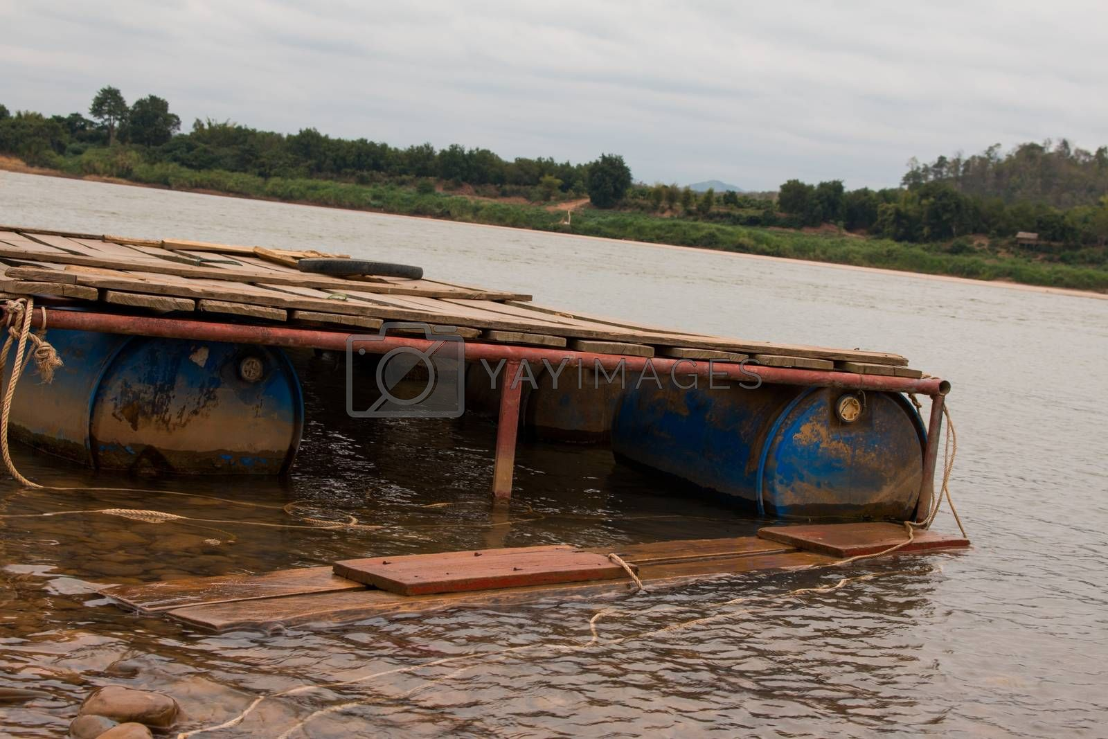 Passenger pontoon boat damaged