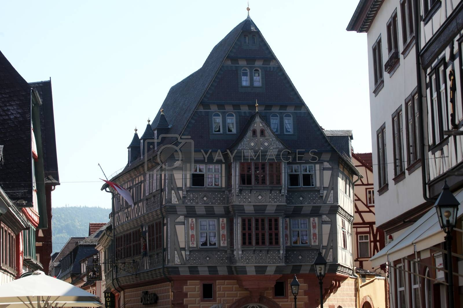 Half-timbered old house in Miltenberg, Germany