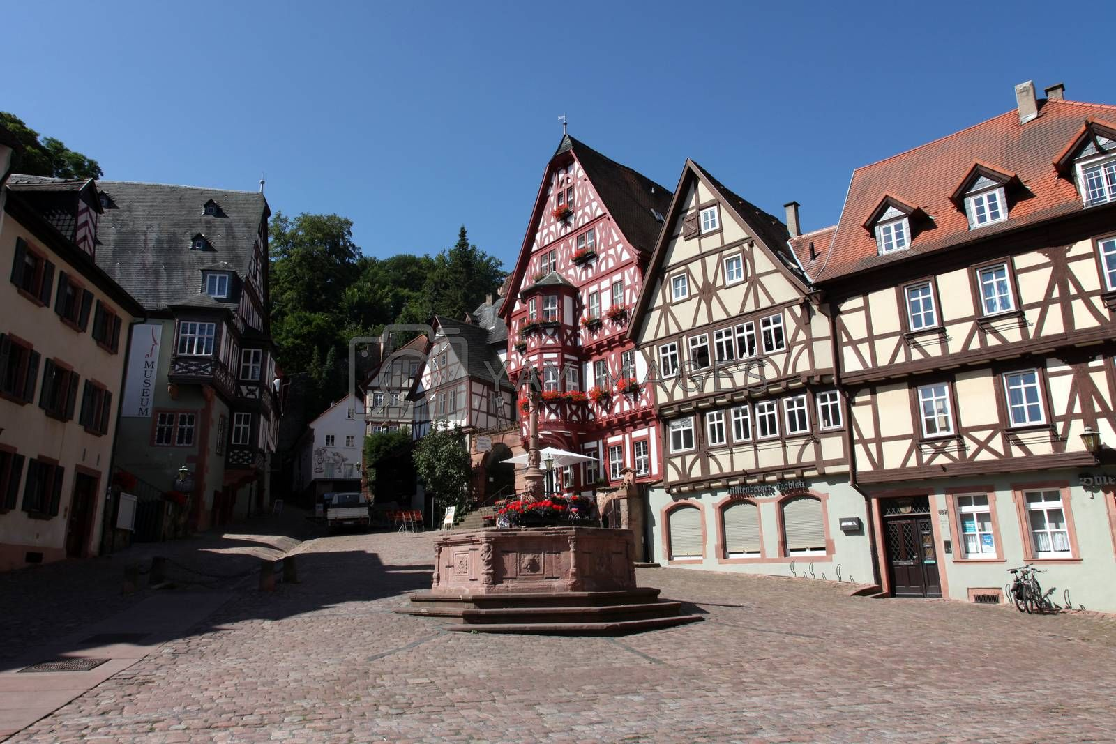 Half-timbered old houses in Miltenberg, Germany