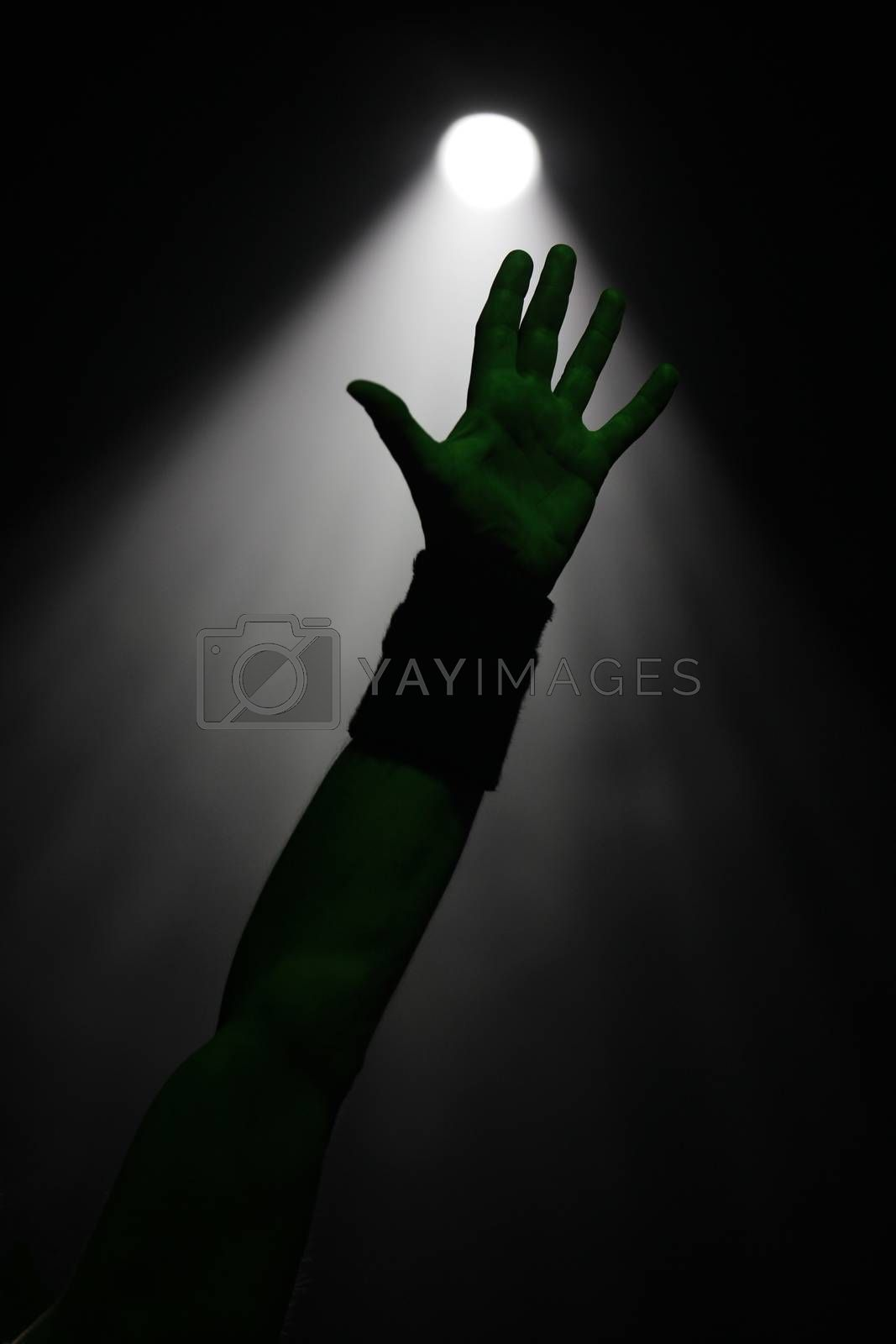 Hand in the air on a concert show