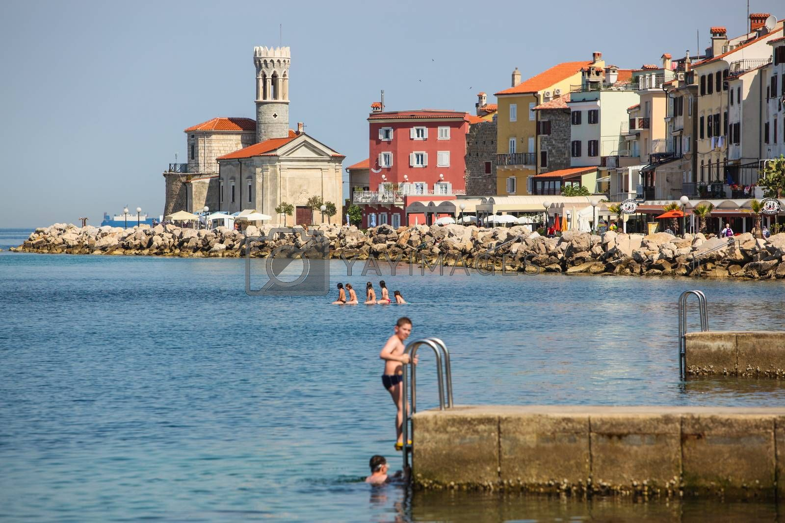 Slovenian coastal town Piran.
