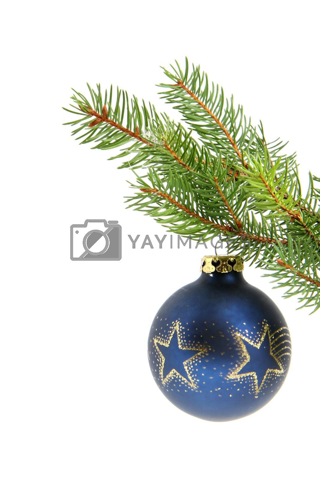 Christmas ball with copyspace