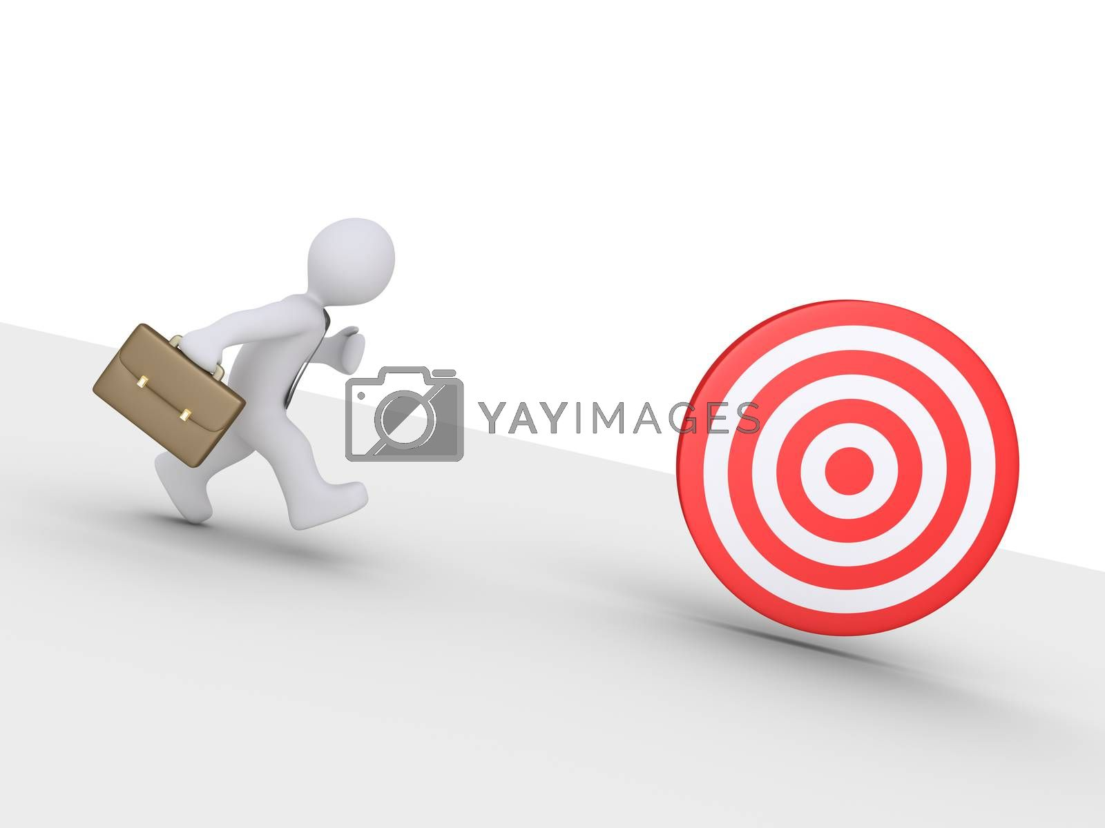 Businessman is chasing target by 6kor3dos
