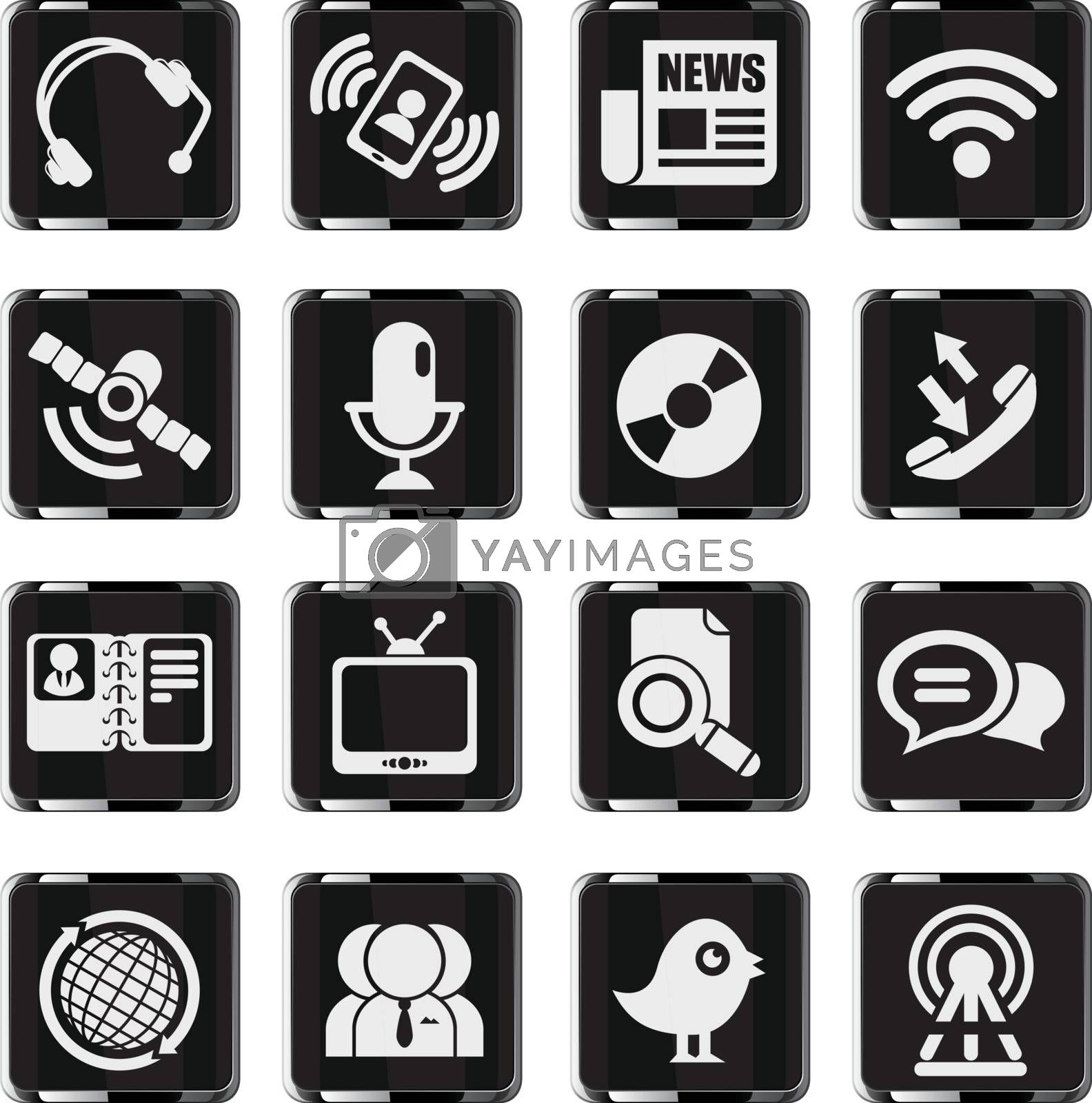 communication icons by ayax