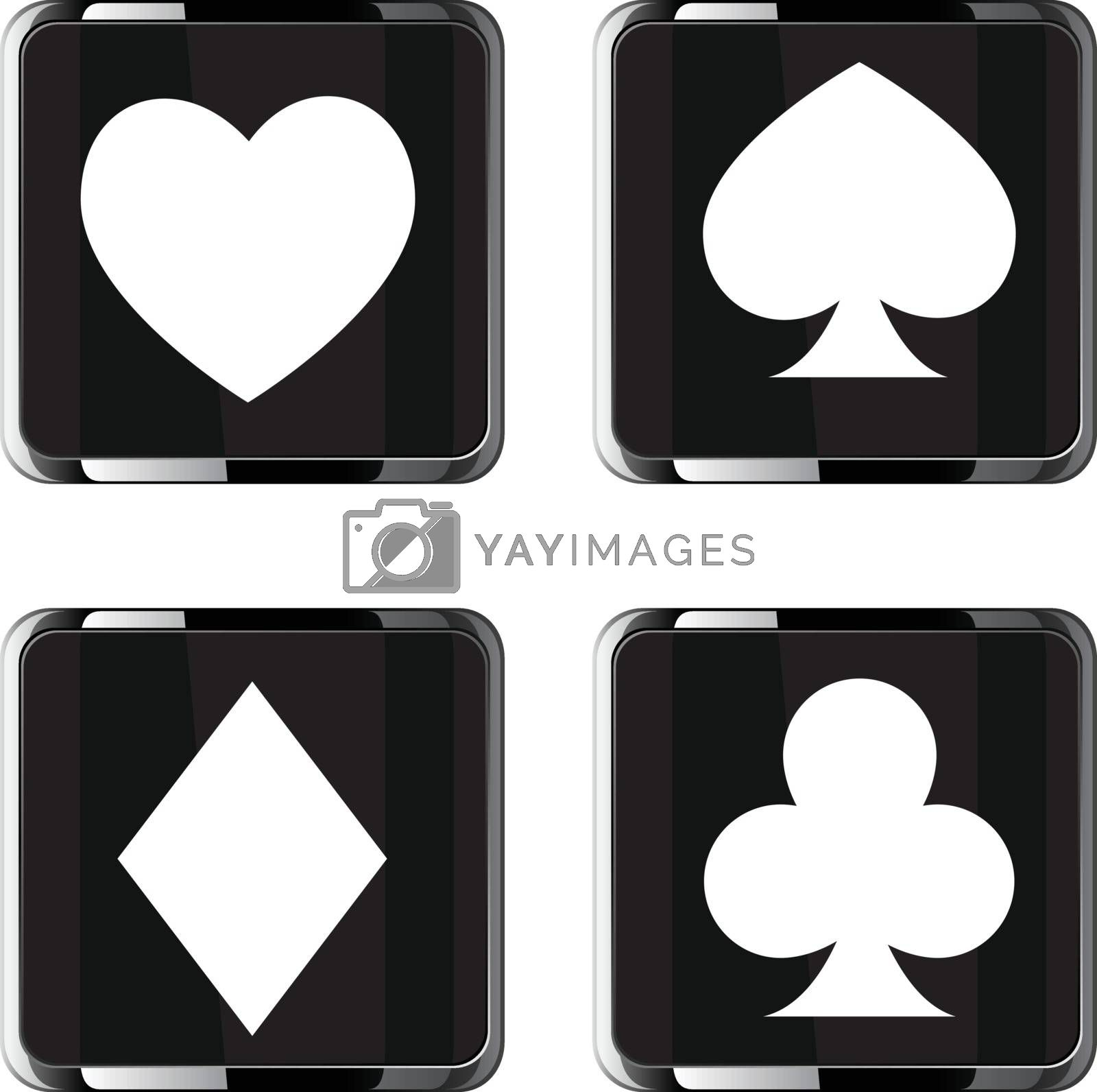 Casino elements vector icon set for web