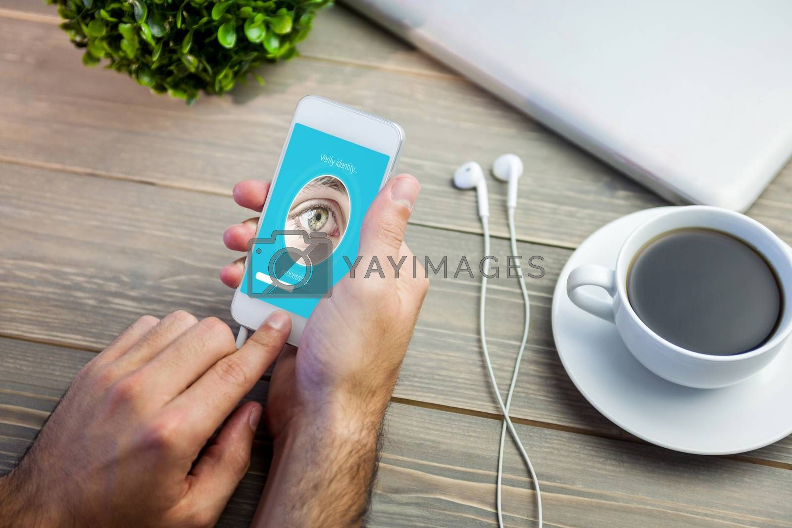 Royalty free image of Composite image of iris recognition by Wavebreakmedia