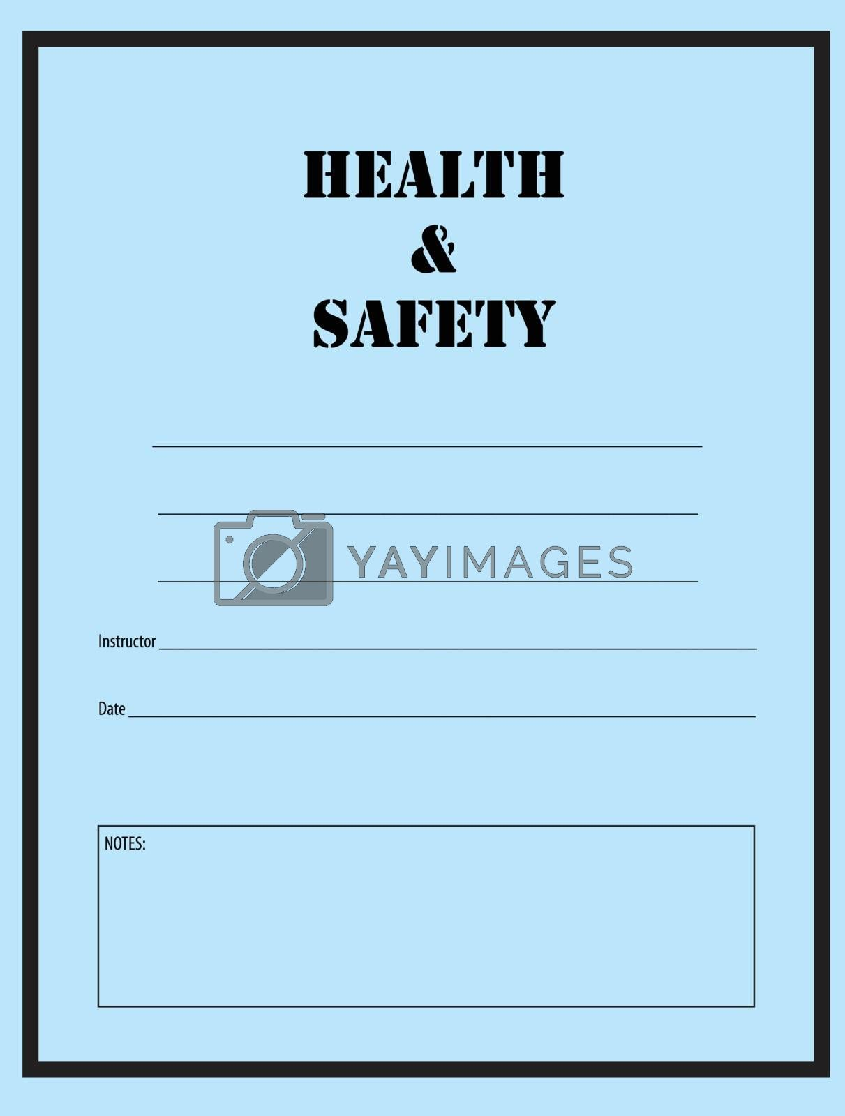 Health and safety, log in the industrial works. Vector illustration.