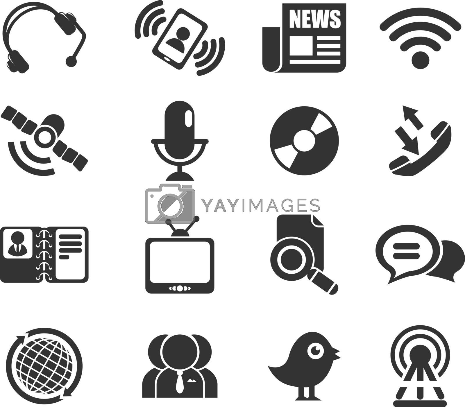 Communication icons for web icons and user interface