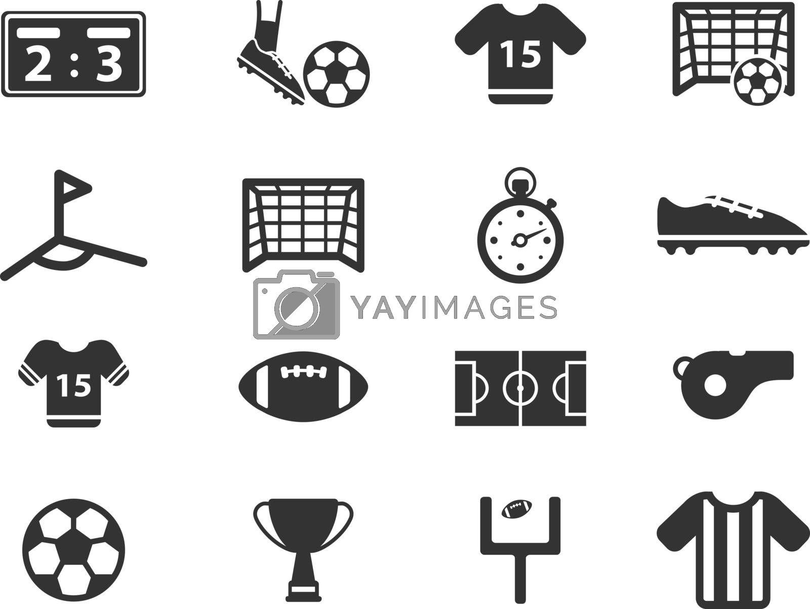 Football  simply symbol for web icons and user interface
