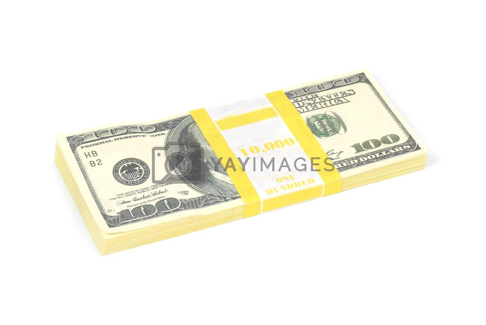 Stack of money by vapi