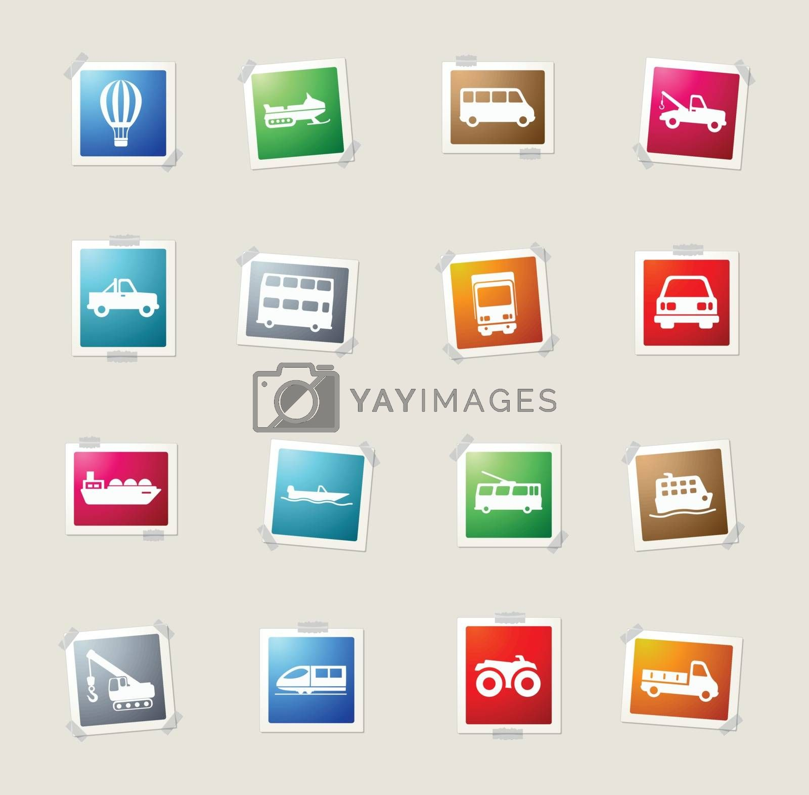 Transportation  vector icons for web sites and user interface