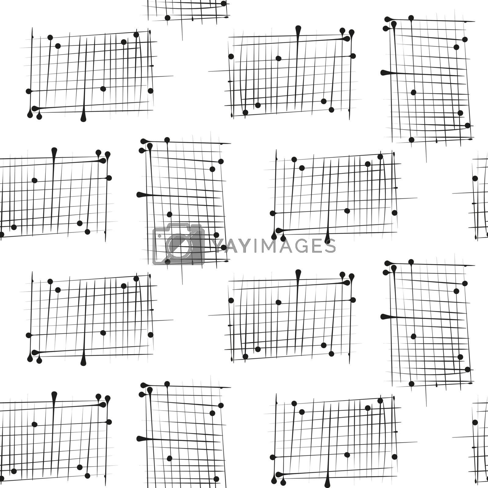Dash on white background mimic ink hand drawn seamless pattern