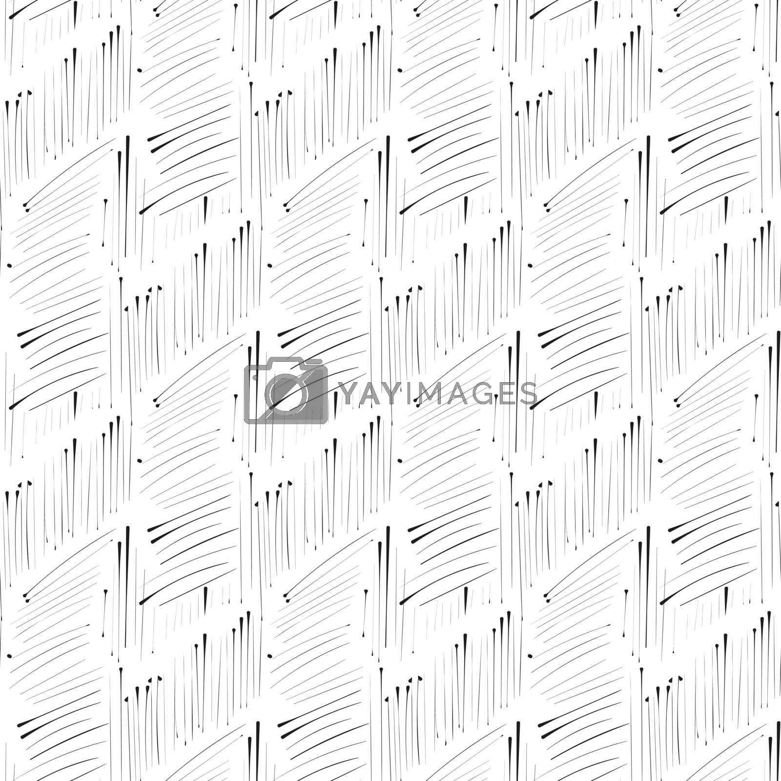 Hatch ink imitation hend drawn, seamless pattern