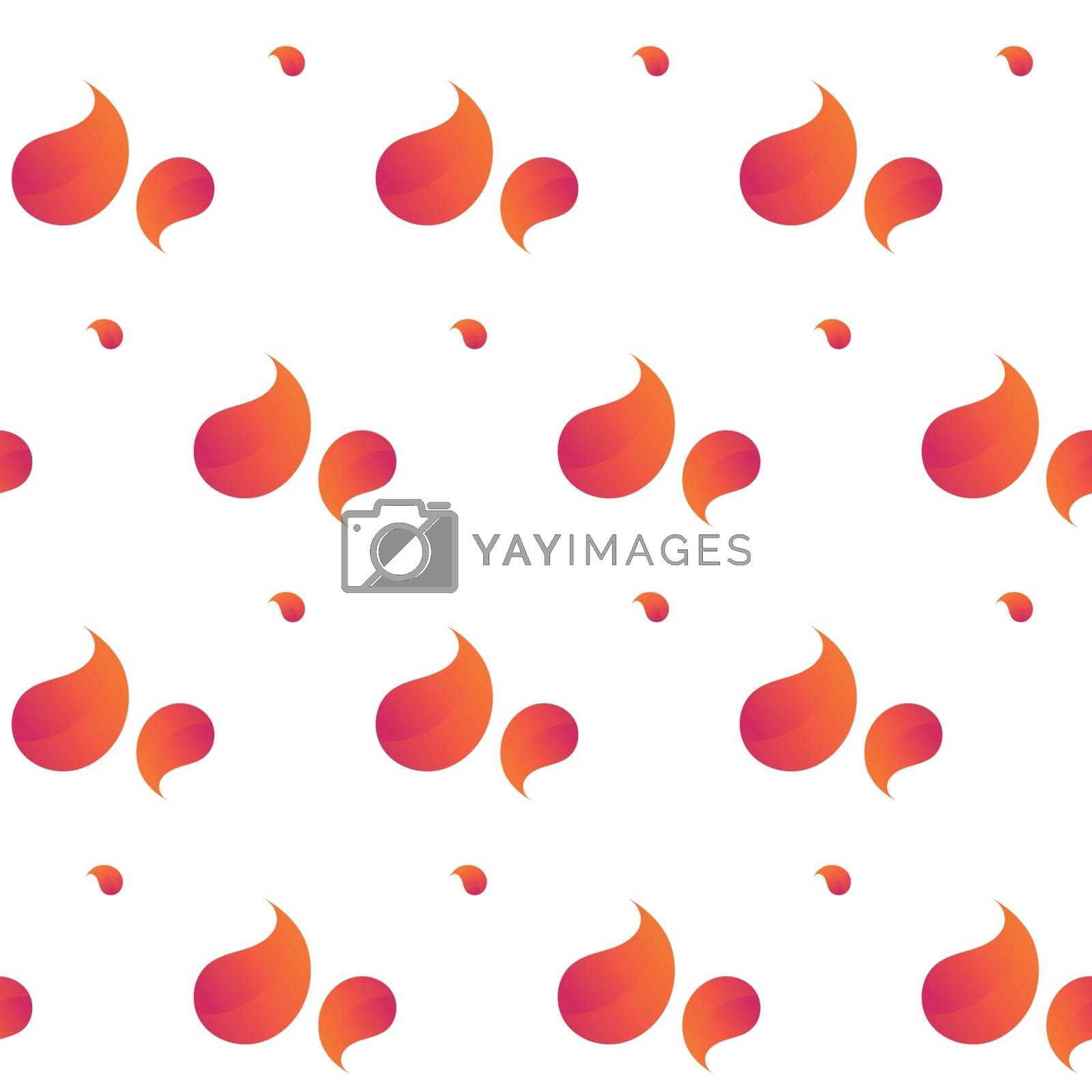 Drops of color orange gradient seamless pattern