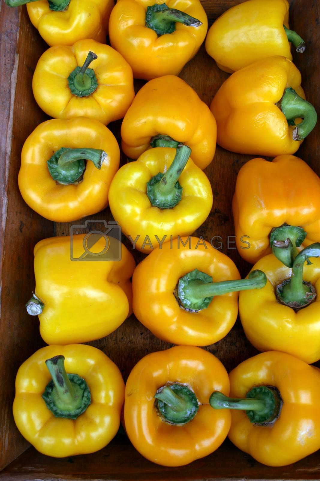 Yellow Bell Pepper at Local Farm Market in Monaco