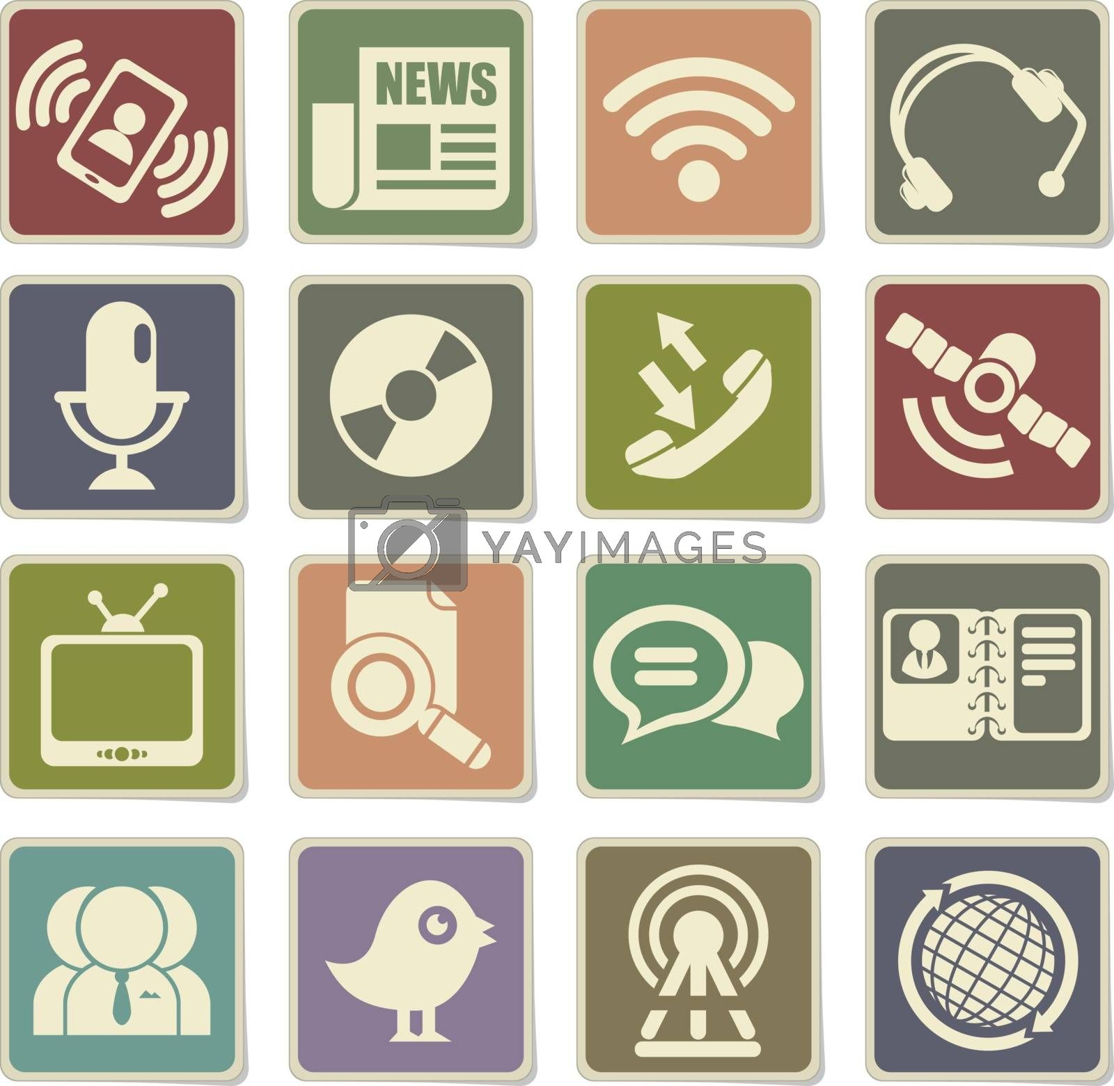 Communication icon for web sites and user interface