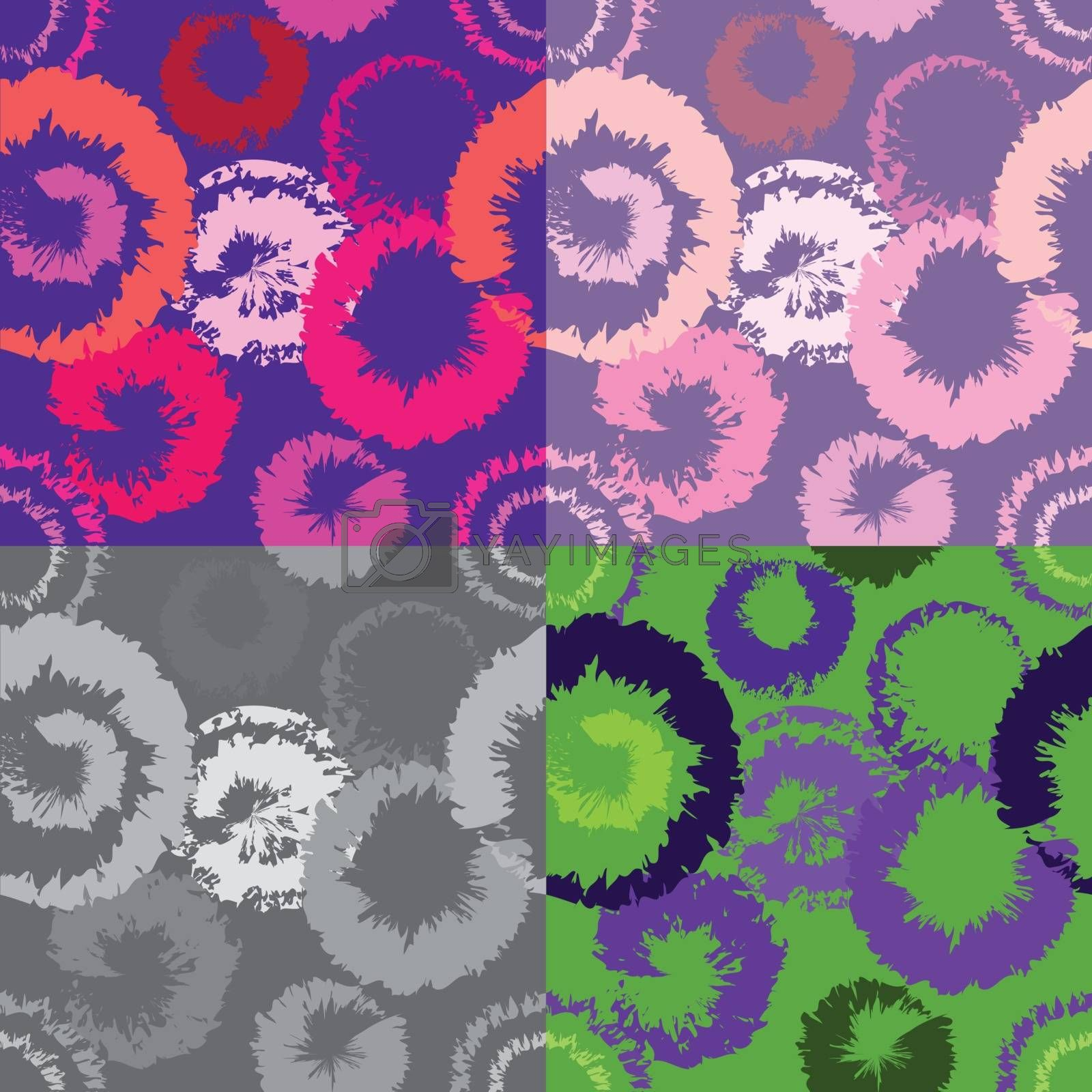 Abstract Colorful Fashion Seamless Pattern Background Vector Illustration