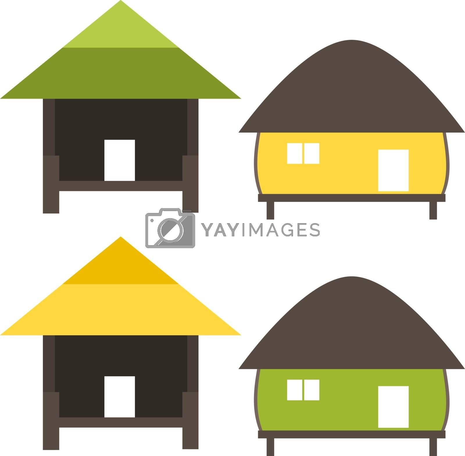 Nature home symbol in ecology world concept illustration