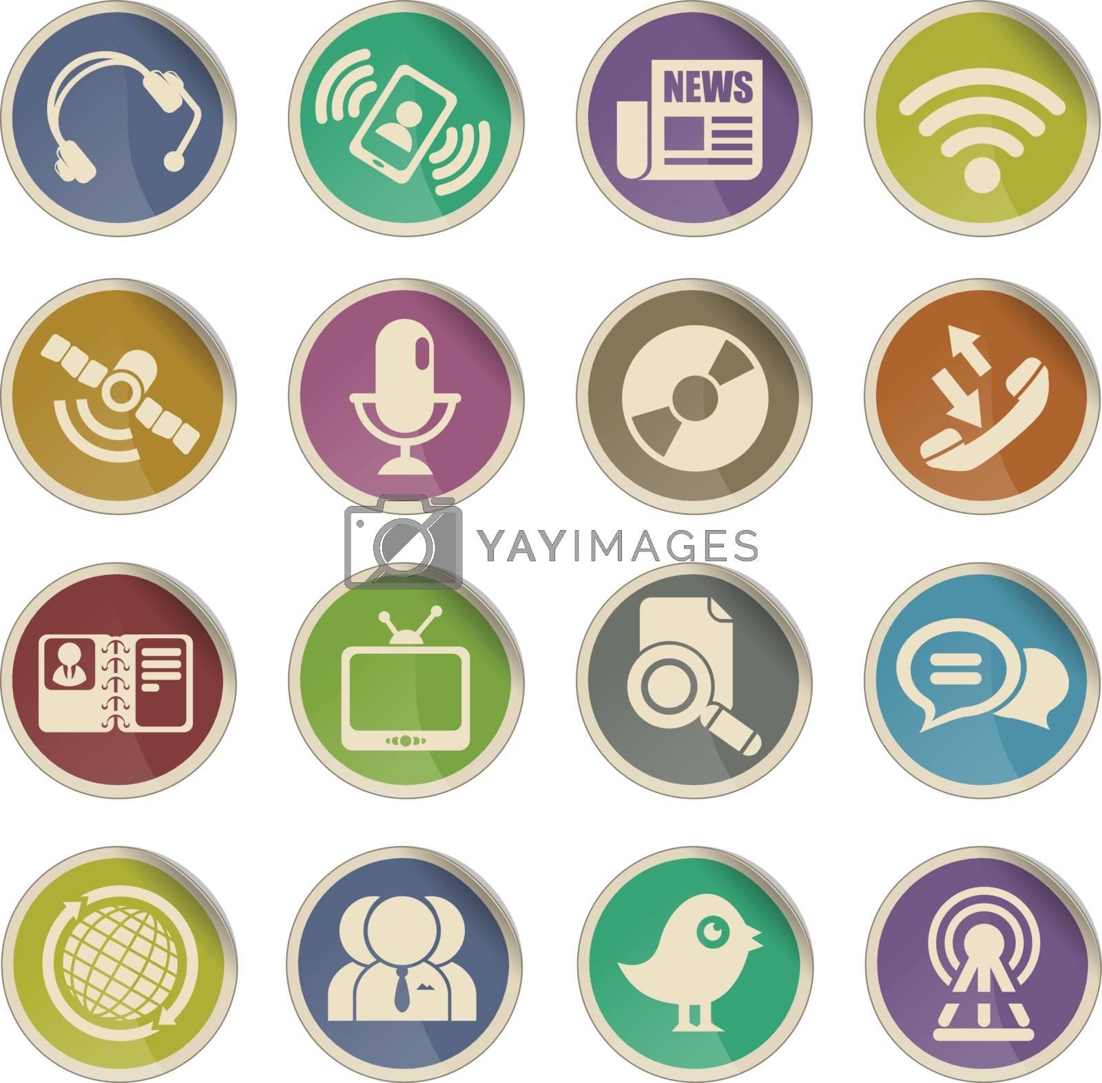 communication icons by ayax